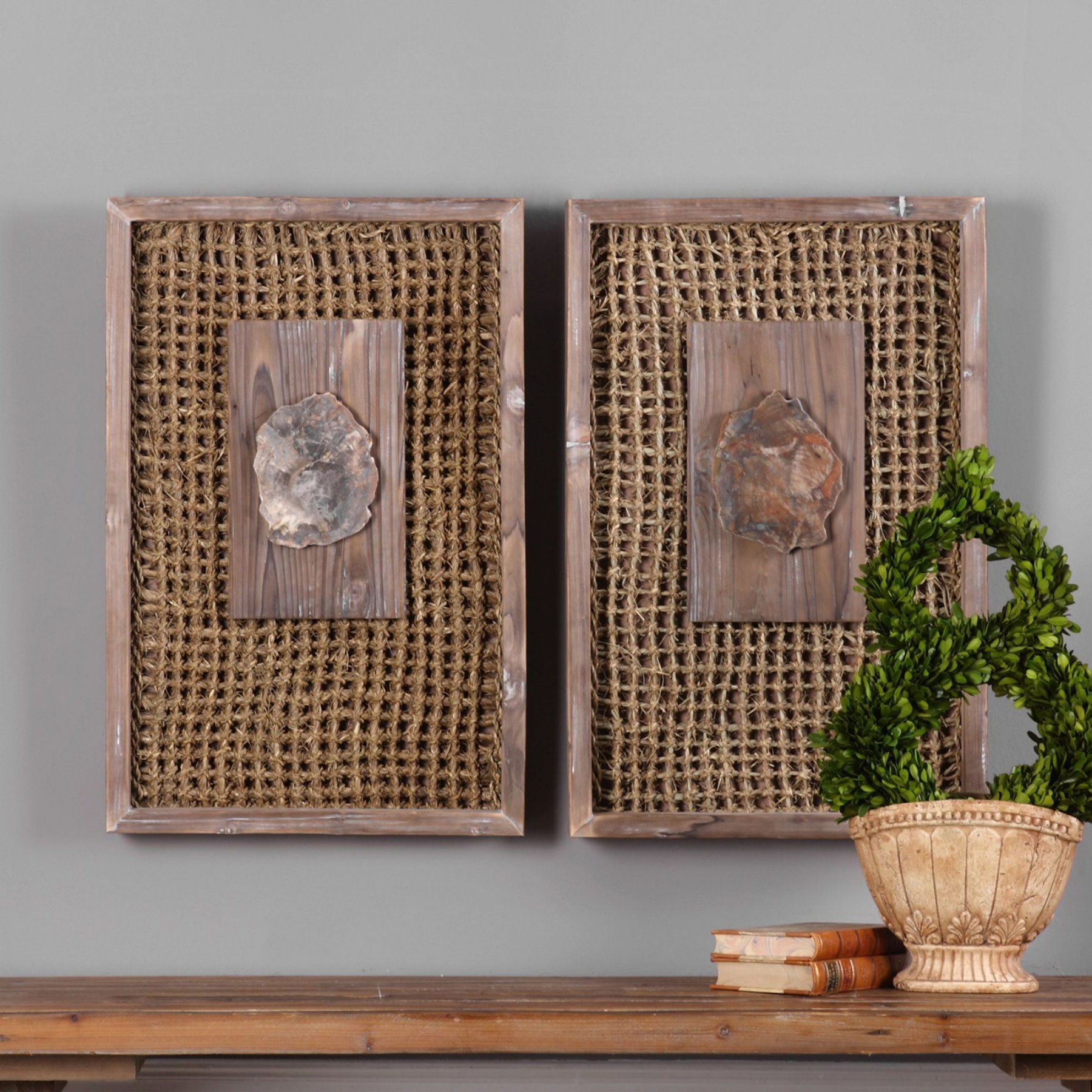 Products Regarding Panel Wood Wall Decor Sets (Set Of 2) (Gallery 14 of 20)