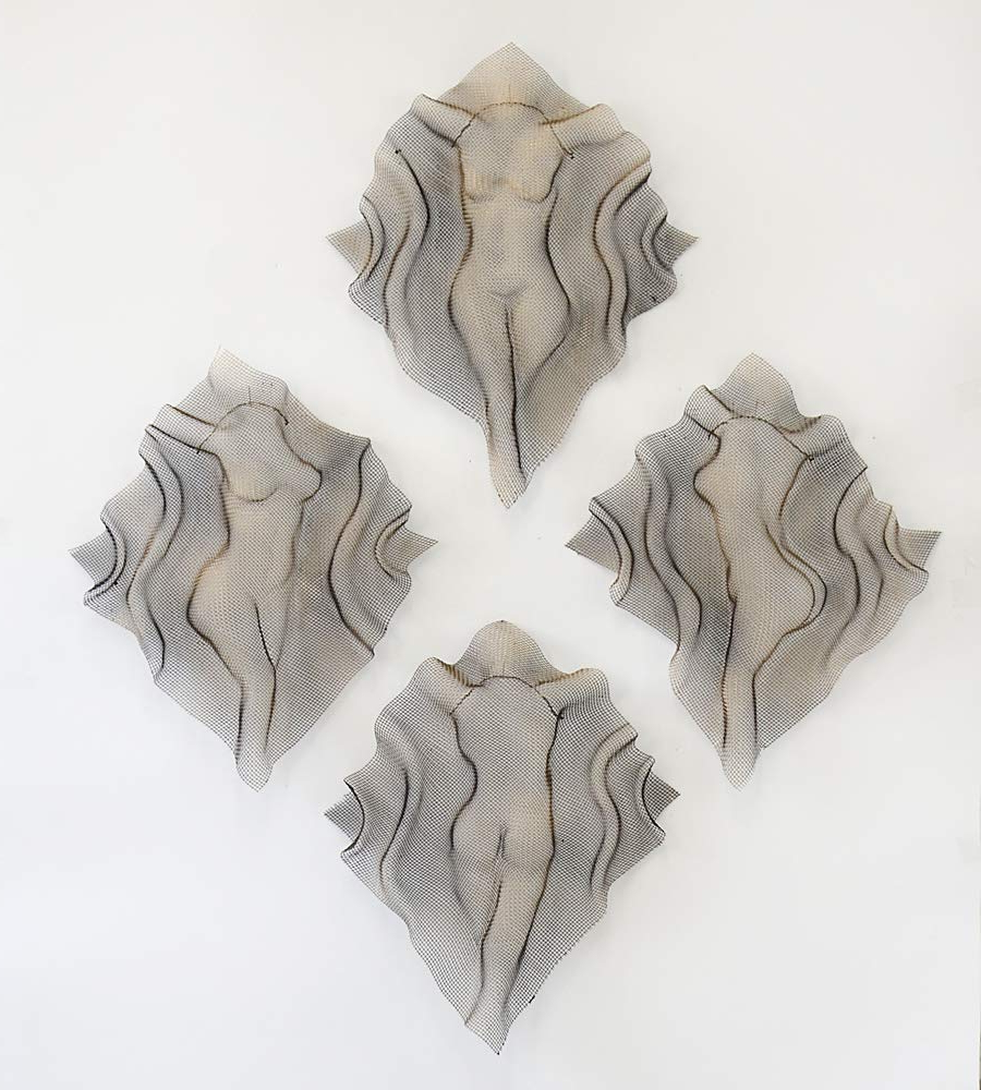 Recent Amazon: Set Of 4 Woman Torso Sculpture Metal Wall Art, Handmade In Metal Wall Decor (Set Of 4) (View 12 of 20)