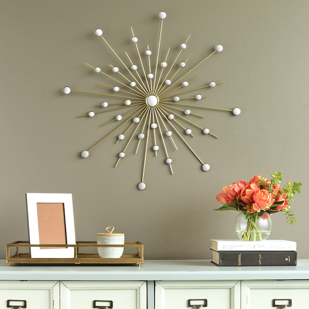 Recent Stratton Home Decor Mirrored Starburst Wall Decor (Gallery 4 of 20)