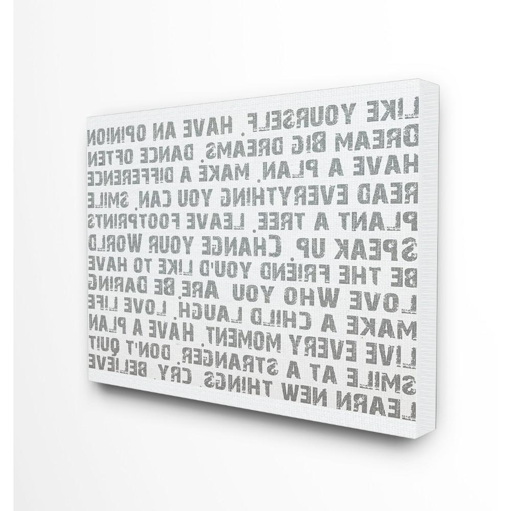 "Rectangle Like Yourself Inspirational Typography Wall Plaque Pertaining To Widely Used Stupell Industries 16 In. X 20 In. ""like Yourself Inspirational (Gallery 3 of 20)"