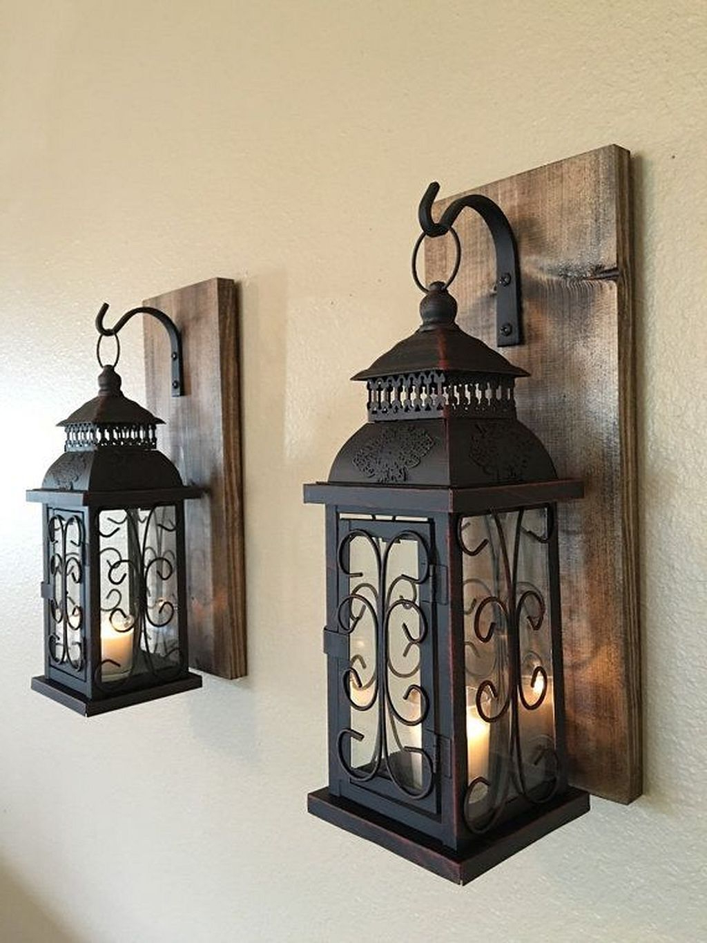 Rustic Wall Decor, Lanterns With Regard To Most Up To Date Maxwell Wood And Metal Wall Decor (View 13 of 20)