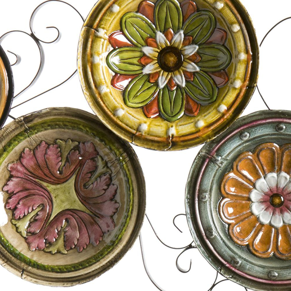 Scattered Metal Italian Plates Wall Decor With Fashionable Southern Enterprises Scattered Italian Plates Wall Art Ws9435 – The (Gallery 4 of 20)