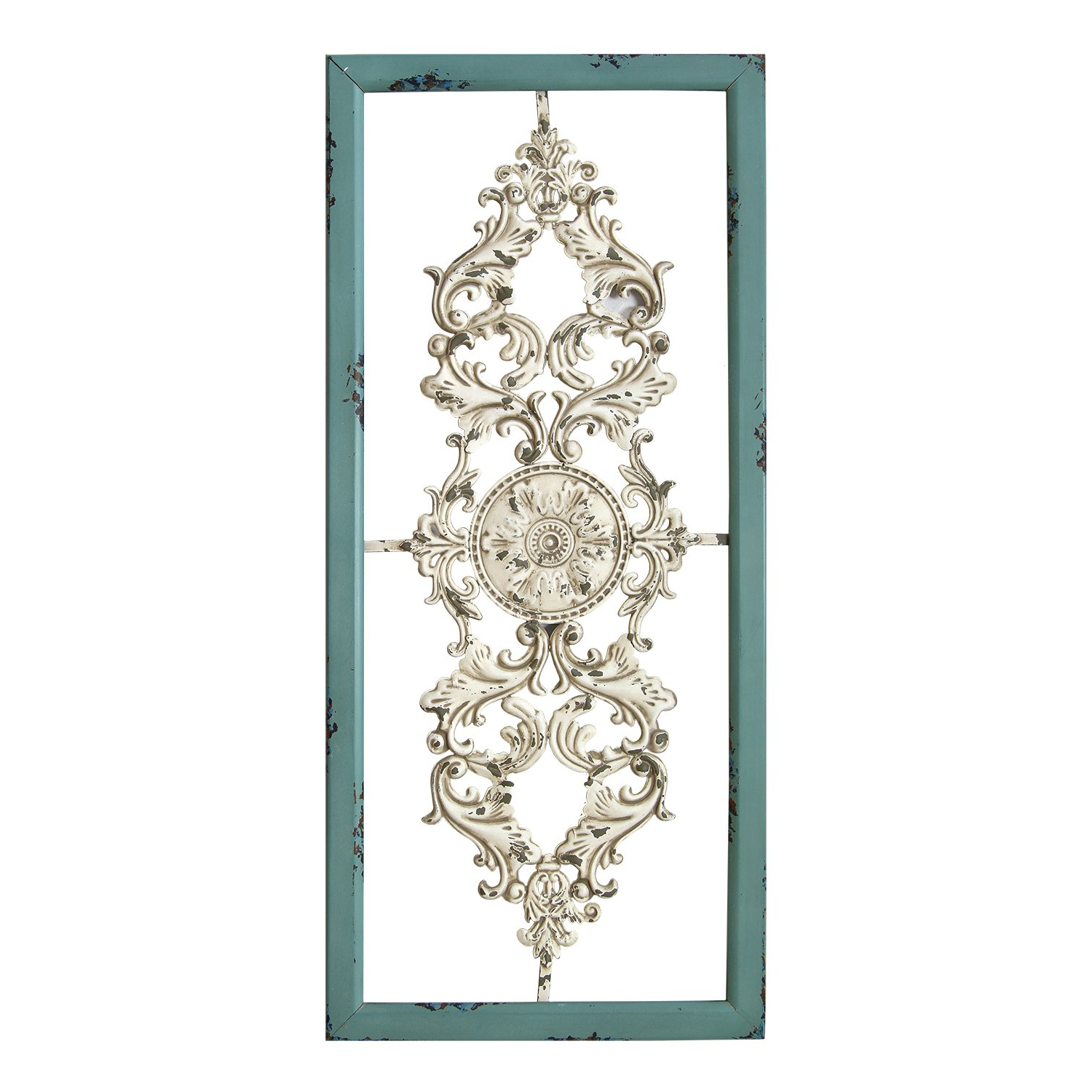 Scroll Framed Wall Decor Intended For Famous Stratton Home Decor Shd0121 Scroll Panel Wall Decor, 10.00 Wx 1.50 Dx  (View 17 of 20)