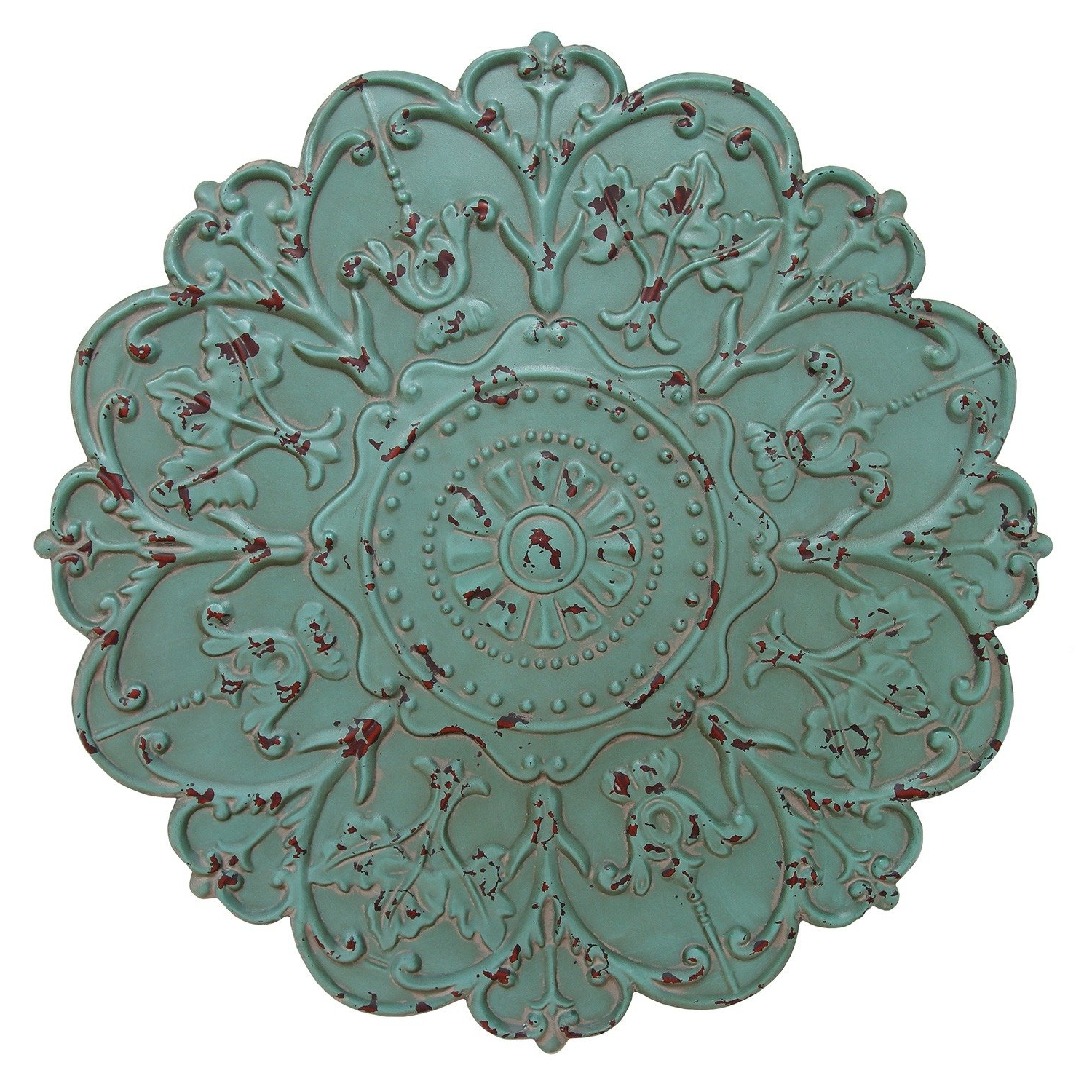 Shabby Medallion Wall Decor Regarding Most Current Amazon: Stratton Home Decor Shabby Medallion Wall Decor: Home (View 3 of 20)