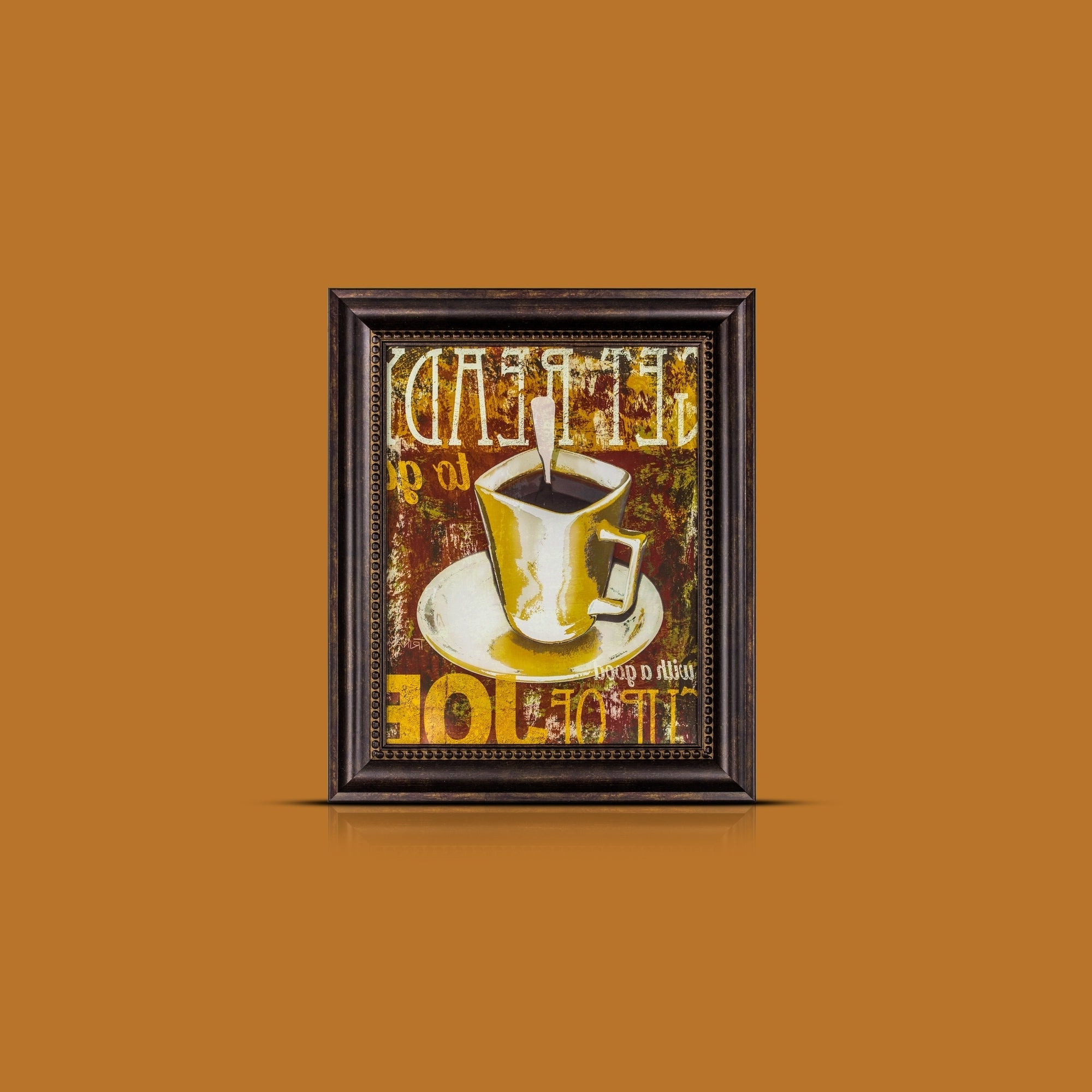 Shop American Art Decor Get Ready With A Good Cup Of Joe Framed Inside Best And Newest Cup Of Joe Wall Decor (View 16 of 20)