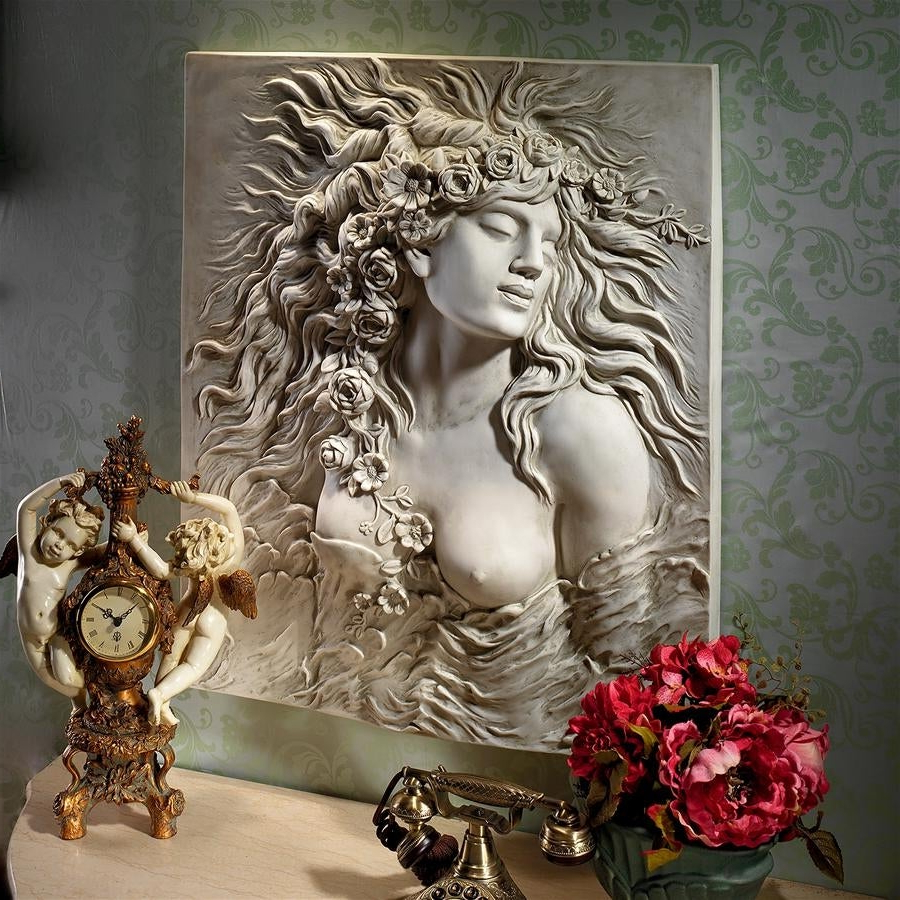 Shop Design Toscano Shakespeare's Ophelia's Desire Wall Sculpture For Most Up To Date Dance Of Desire Wall Decor (View 16 of 20)