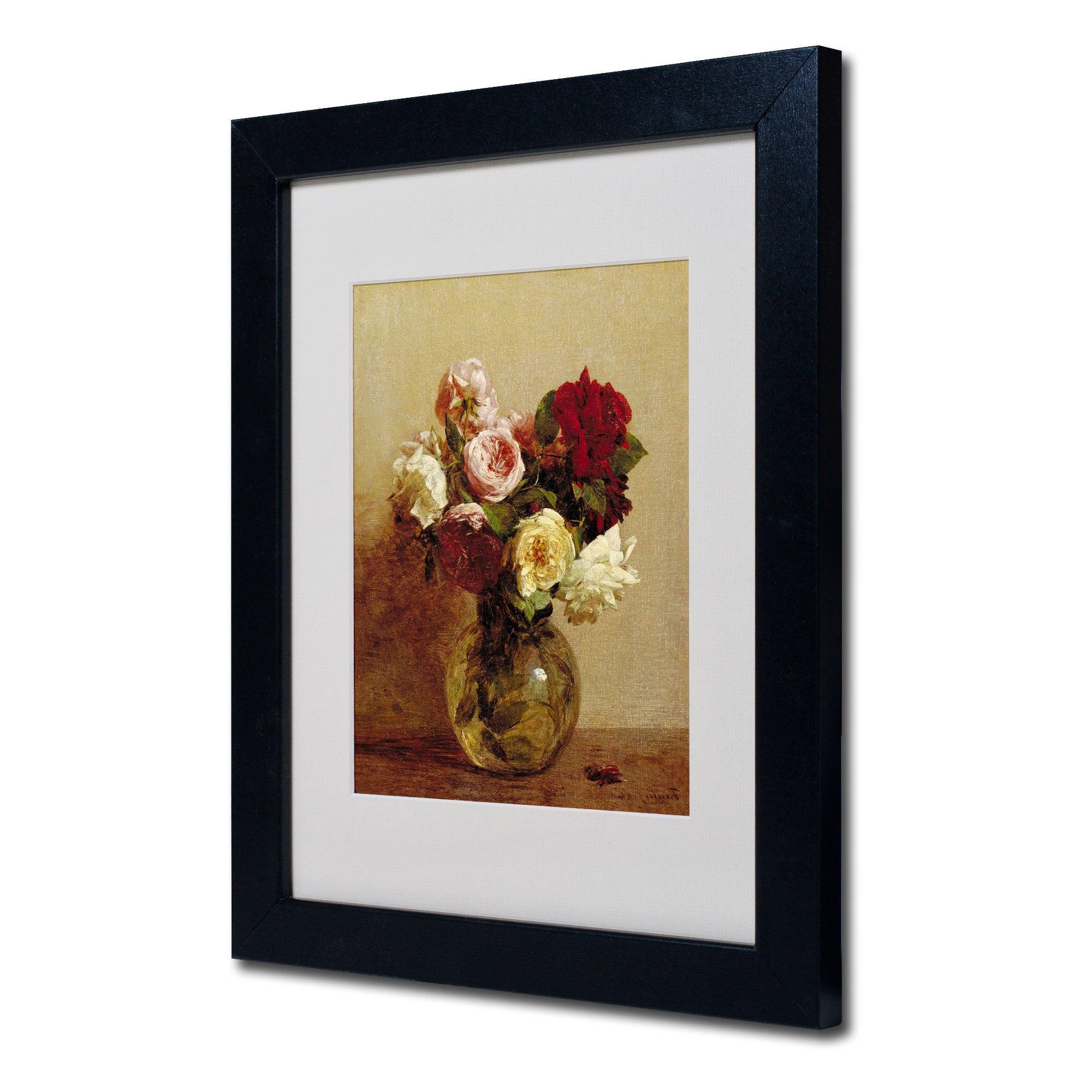 Shop Henri Fantin Latour 'roses 1884' White Matte, Black Framed Wall Throughout 2020 Latour Wall Decor (View 17 of 20)