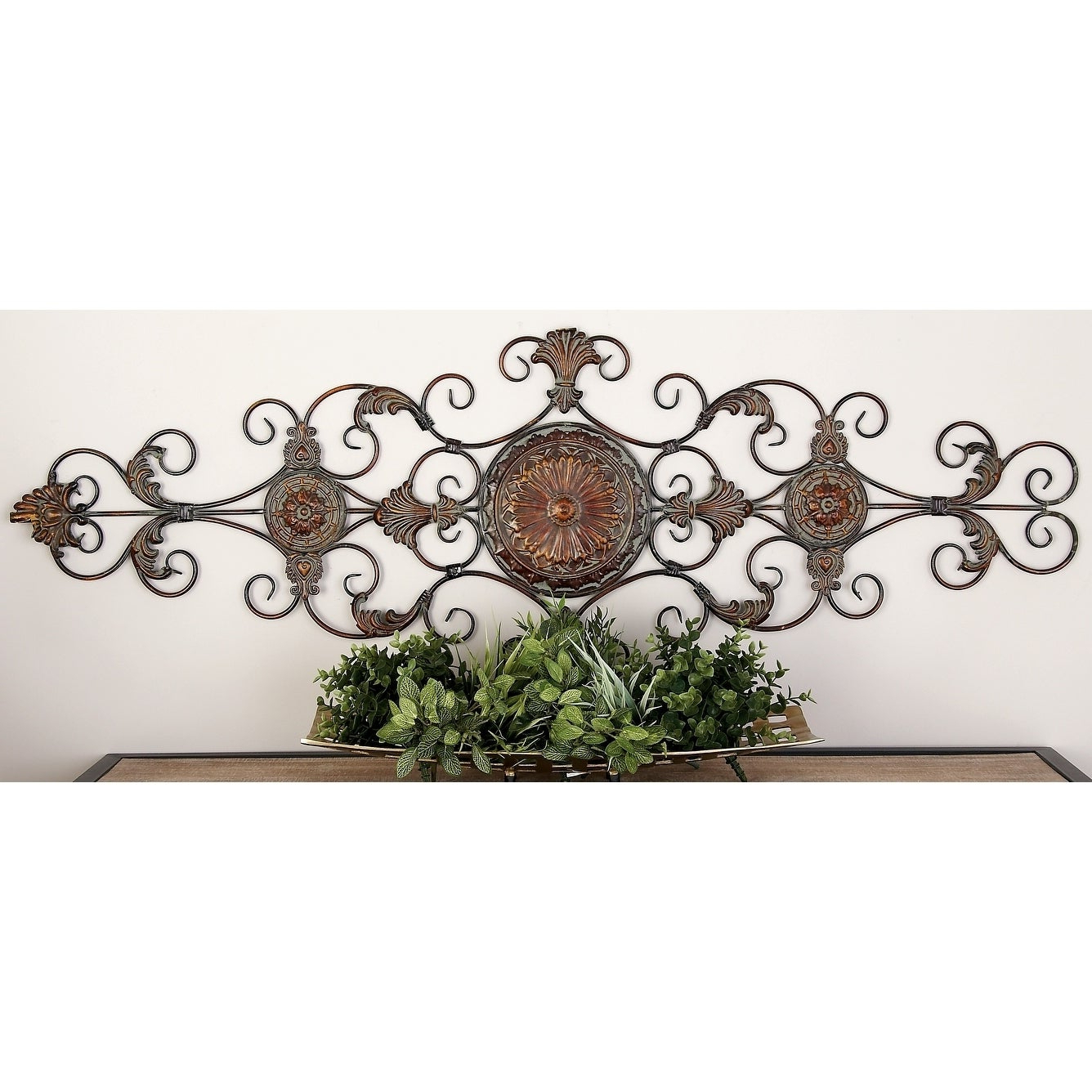 Shop Traditional 55 Inch Scroll And Acanthus Leaf Wall Decor Regarding Most Current Scroll Leaf Wall Decor (Gallery 5 of 20)