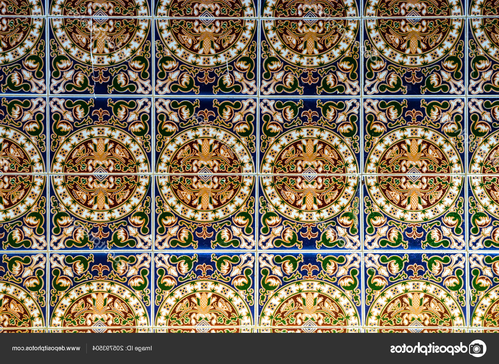 Spanish Ornamental Wall Decor In Recent Traditional Ornamental Spanish Decorative Tiles Original Ceramic (View 9 of 20)