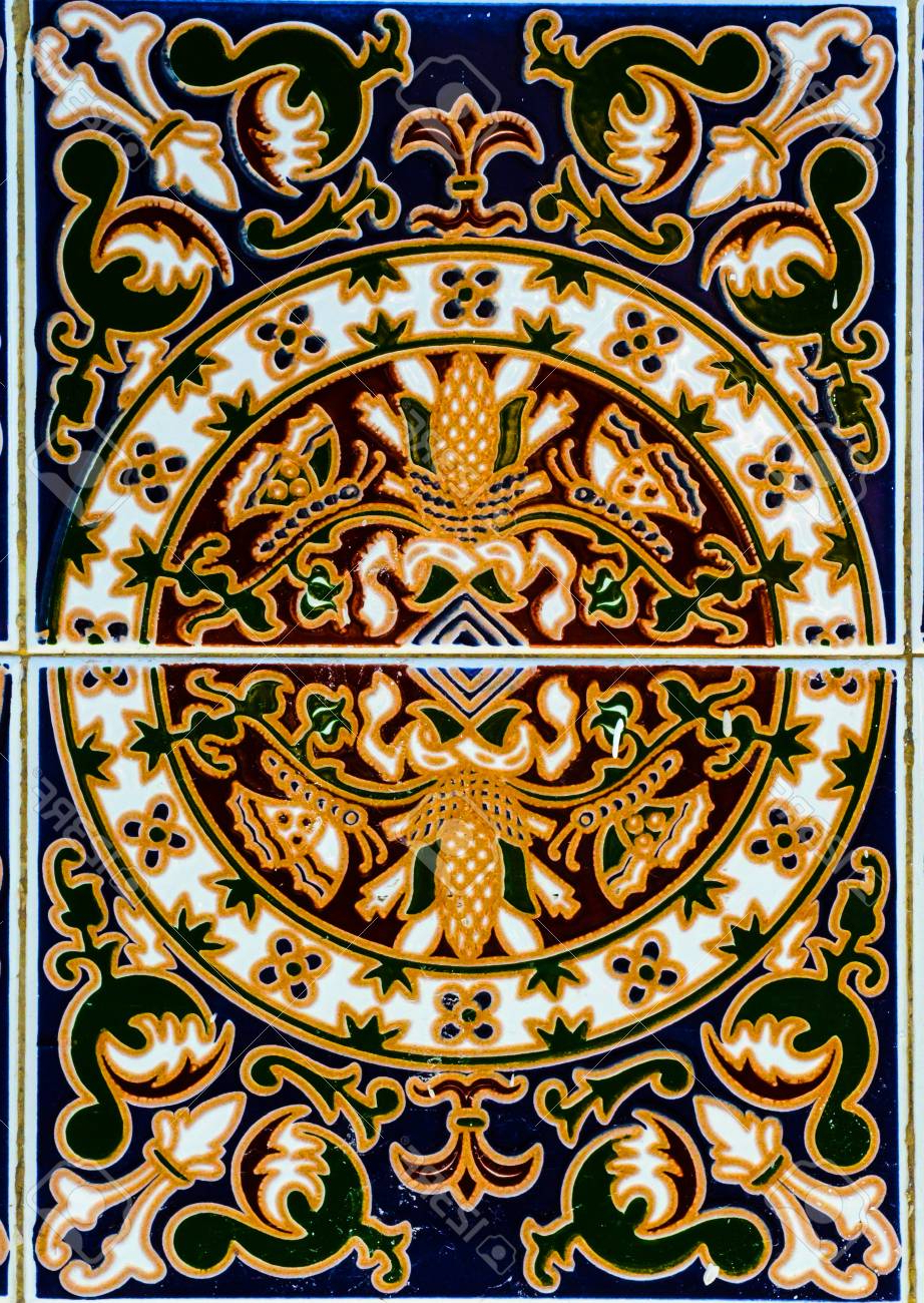 Spanish Ornamental Wall Decor Within Current Traditional Ornamental Spanish Decorative Tiles, Original Ceramic (View 11 of 20)