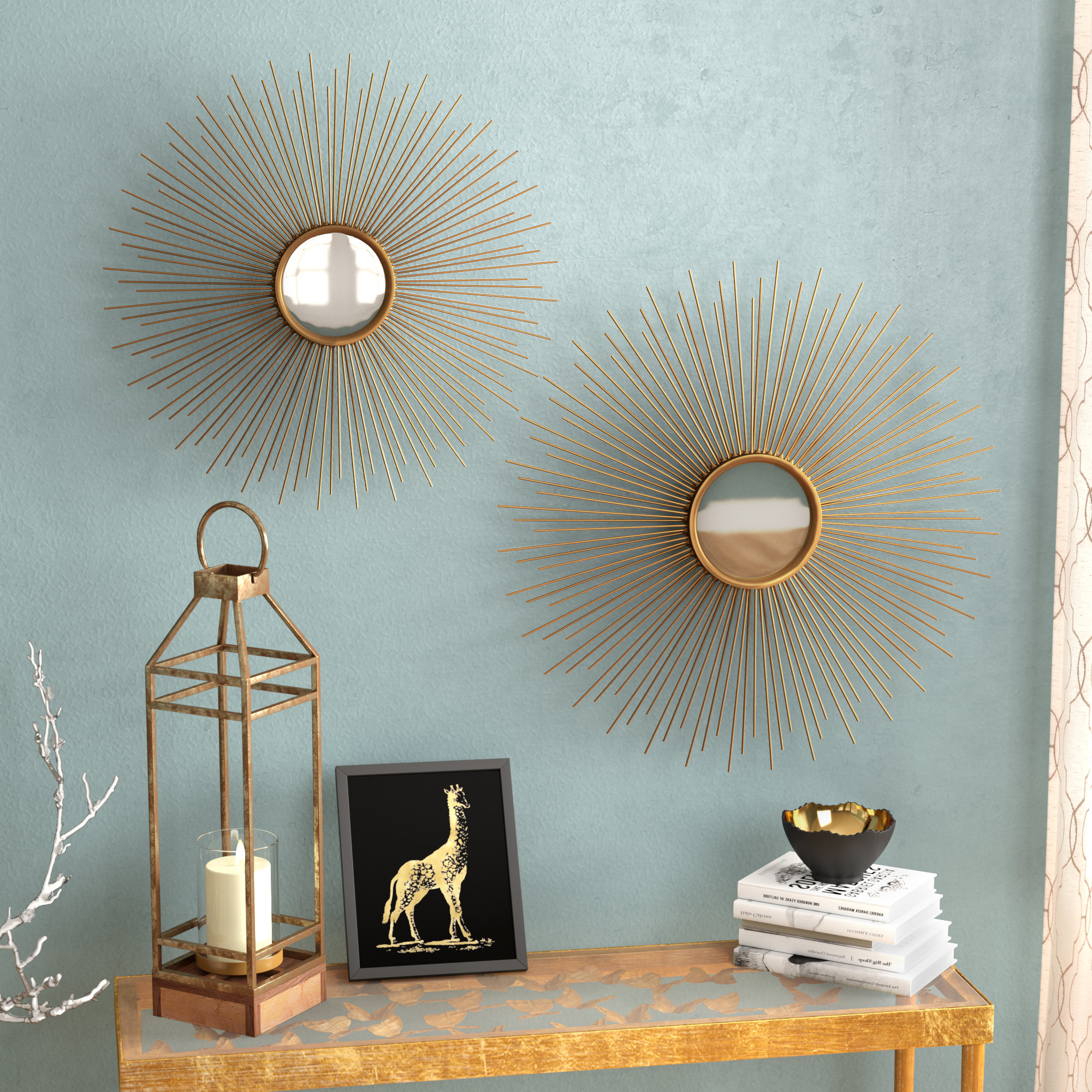 Starburst Wall Decor By Willa Arlo Interiors Within Widely Used Willa Arlo Interiors Melora Sunburst Round Metal Wall Mirror (View 14 of 20)