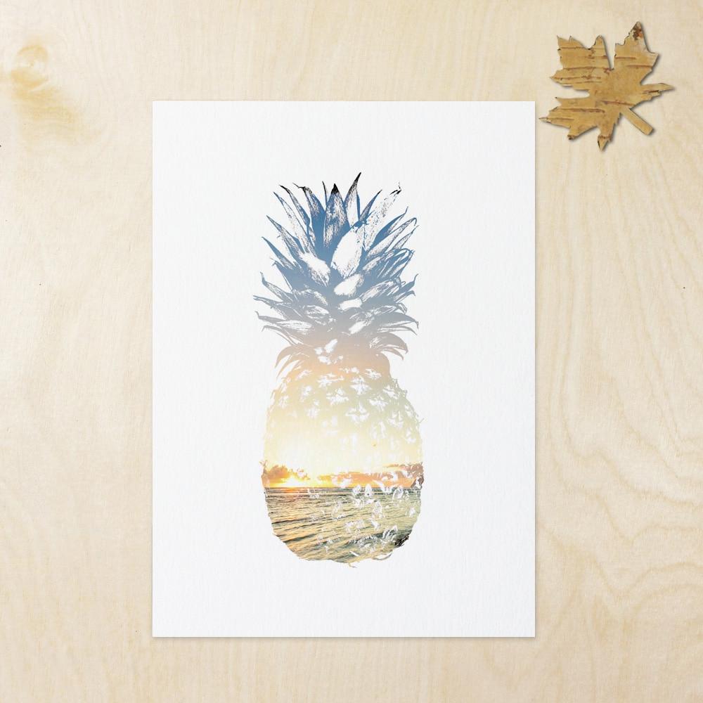Summer Art Pineapple Wall Decor Tropical Decor Beach Decor Summer Within Preferred Pineapple Wall Decor (Gallery 6 of 20)