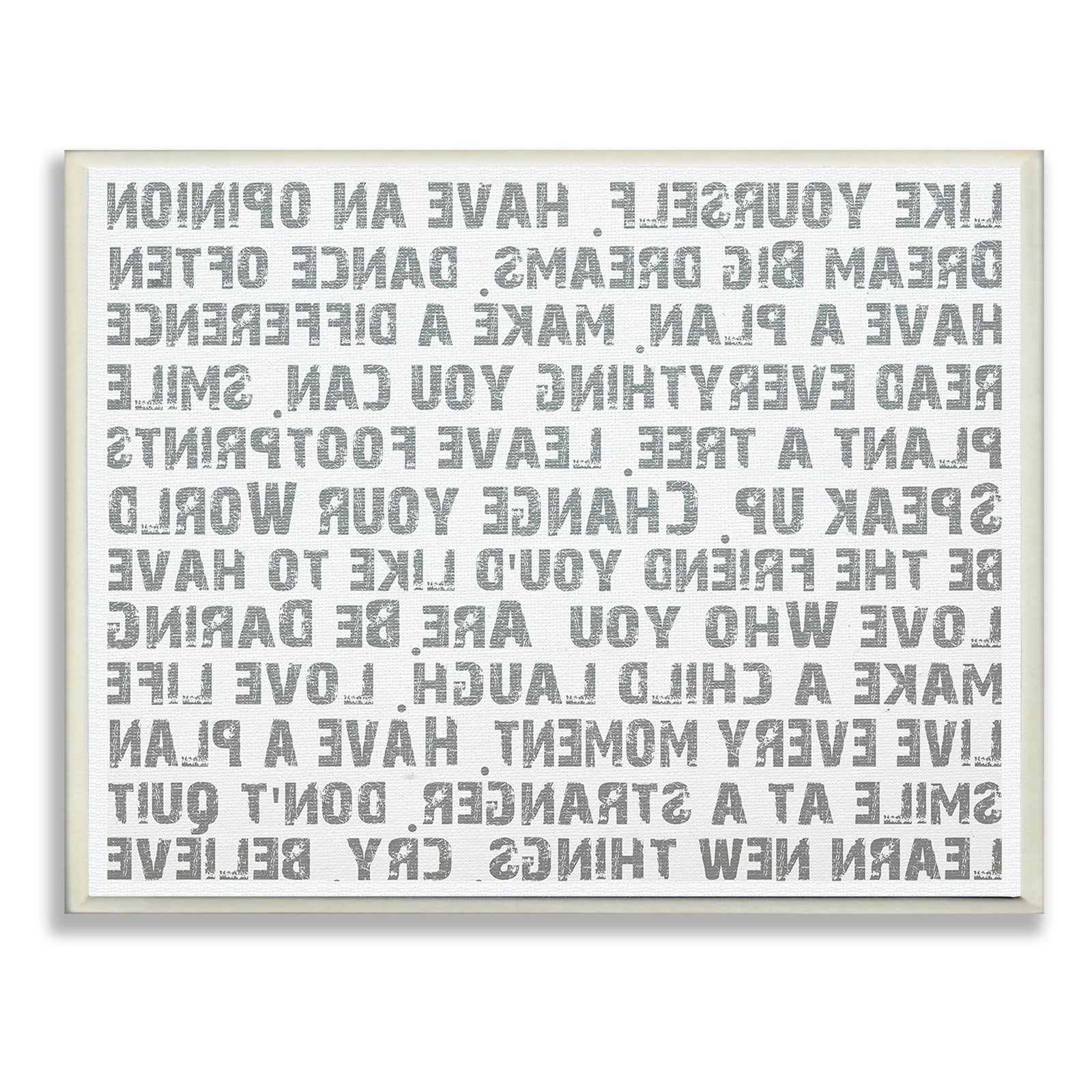 The Stupell Home Decor Collection Like Yourself Inspirational For Well Known Rectangle Like Yourself Inspirational Typography Wall Plaque (Gallery 5 of 20)