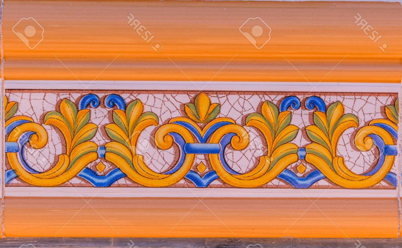 Traditional Ornamental Spanish Decorative Tiles, Original Ceramic In Most Up To Date Spanish Ornamental Wall Decor (View 13 of 20)