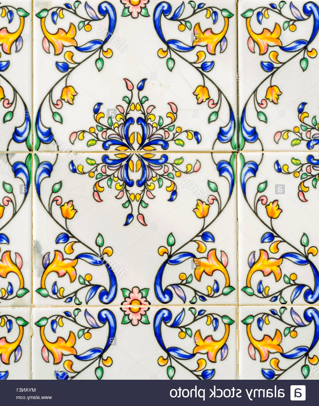 Traditional Ornamental Spanish Decorative Tiles, Original Ceramic Throughout 2020 Spanish Ornamental Wall Decor (Gallery 13 of 20)