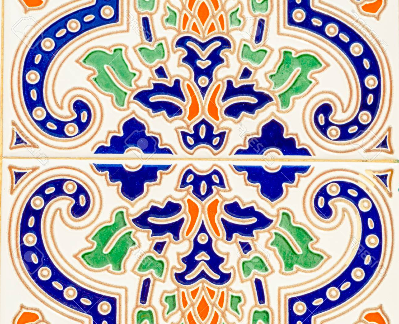 Traditional Ornamental Spanish Decorative Tiles, Original Ceramic Within Best And Newest Spanish Ornamental Wall Decor (Gallery 20 of 20)