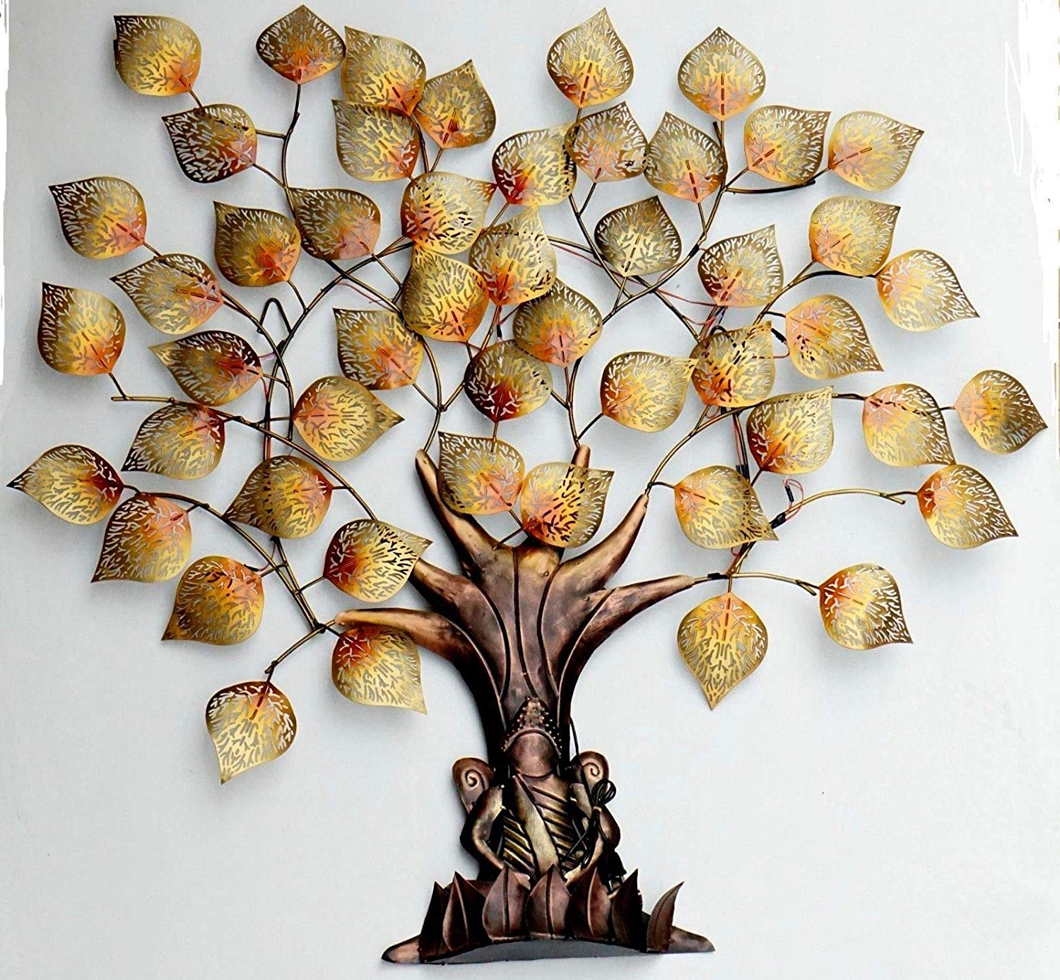 Tree Shell Leaves Sculpture Wall Decor Pertaining To 2019 Buy Elegant Wall Hanging/wall Decor Handmade Metal Art Tree Of (View 10 of 20)
