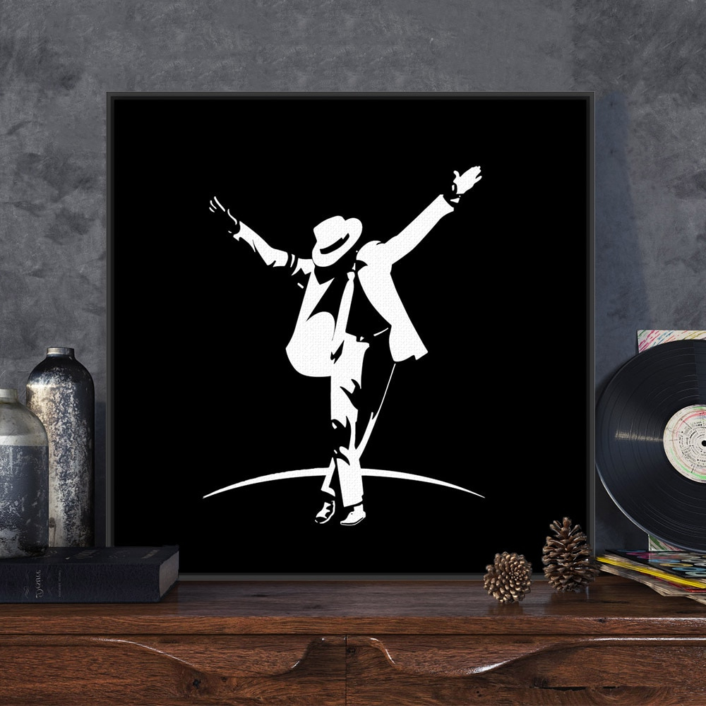 Trendy Dance Of Desire Wall Decor With Modern Pop Music Dancer Celebrity Michael Jackson Black White Art (View 19 of 20)