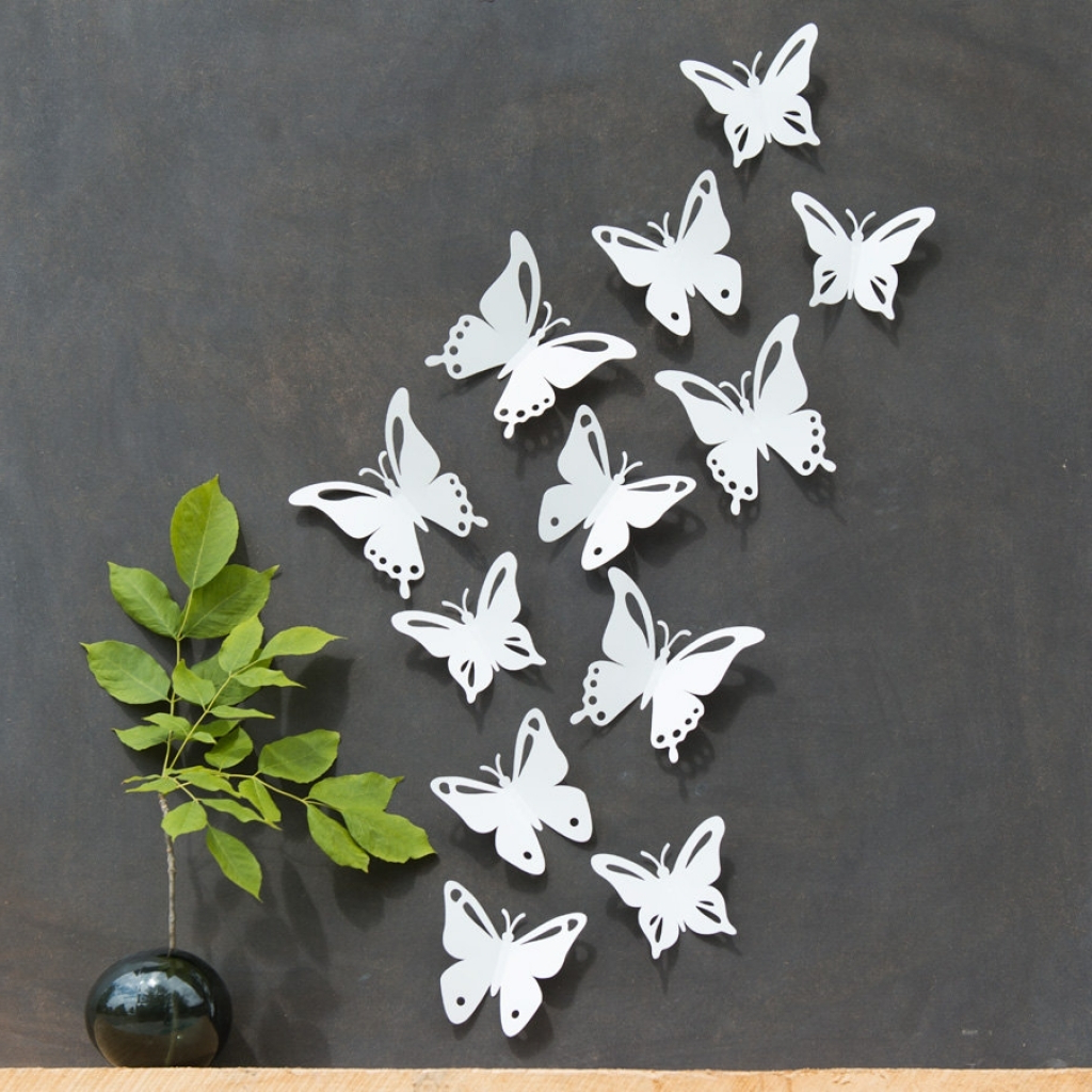 Trendy Ila Metal Butterfly Wall Decor Inside 25 Magnanimous Butterfly Wall Decor That Gives You Pleasure (View 20 of 20)