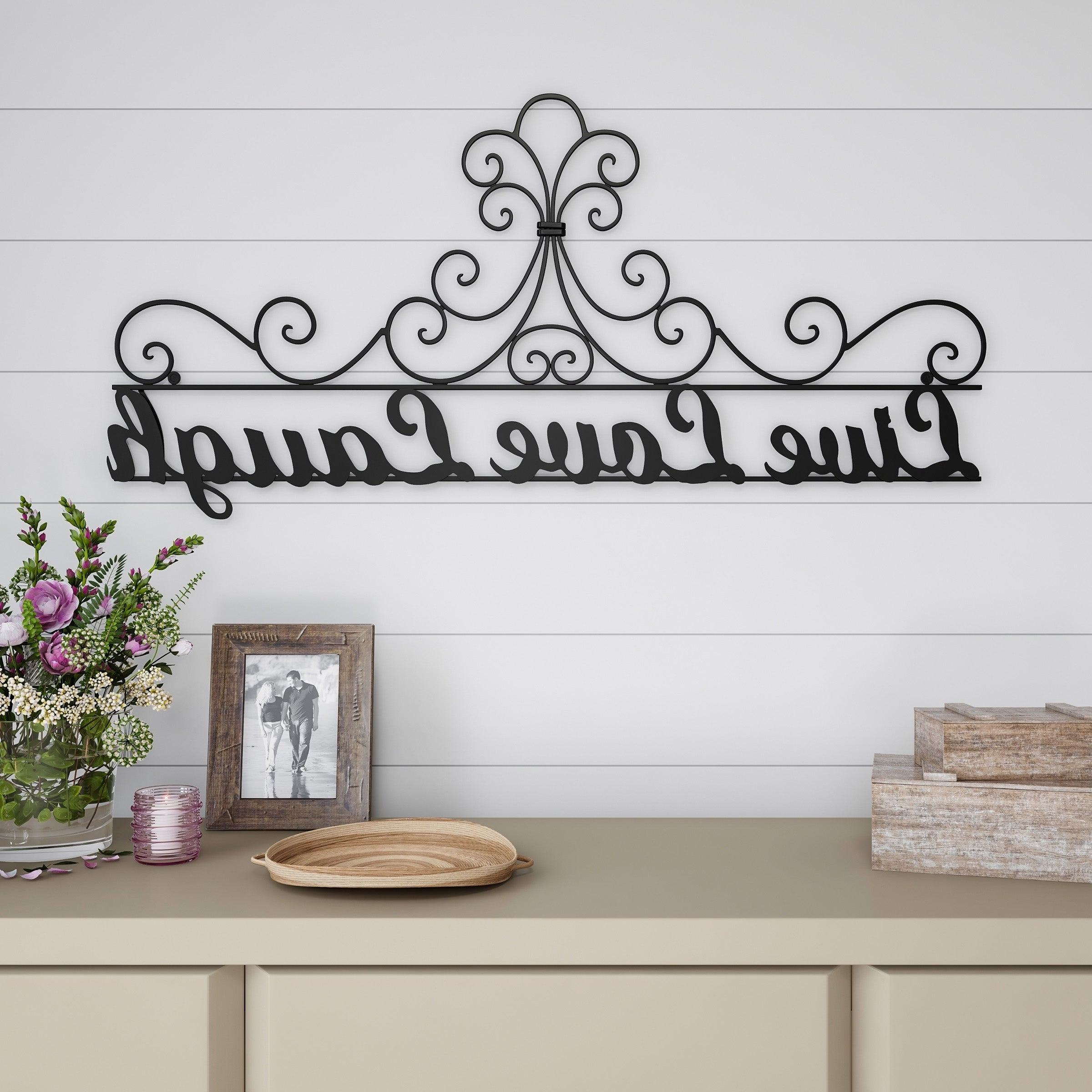 Trendy Live, Laugh, Love Antique Copper Wall Decor For Shop Metal Cutout Live Laugh Love Decorative Wall Sign 3D Word Art (Gallery 12 of 20)