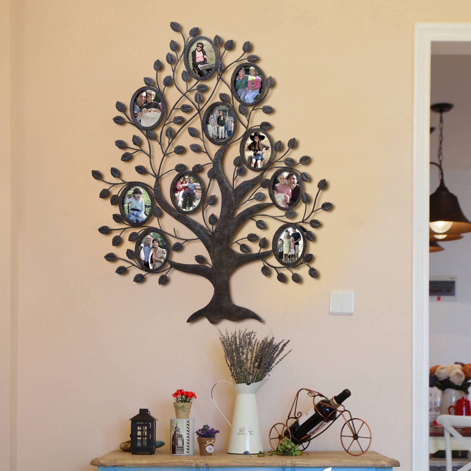 Trendy Red Barrel Studio Medlock 10 Opening Decorative Family Tree Wall With Regard To Tree Of Life Wall Decor By Red Barrel Studio (Gallery 1 of 20)