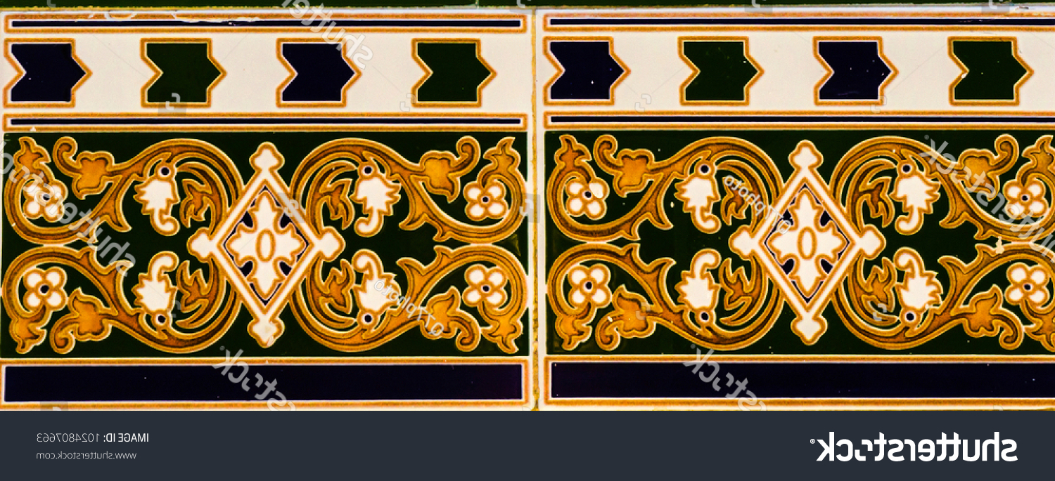 Trendy Spanish Ornamental Wall Decor Regarding Traditional Ornamental Spanish Decorative Tiles Original Stock Photo (View 16 of 20)