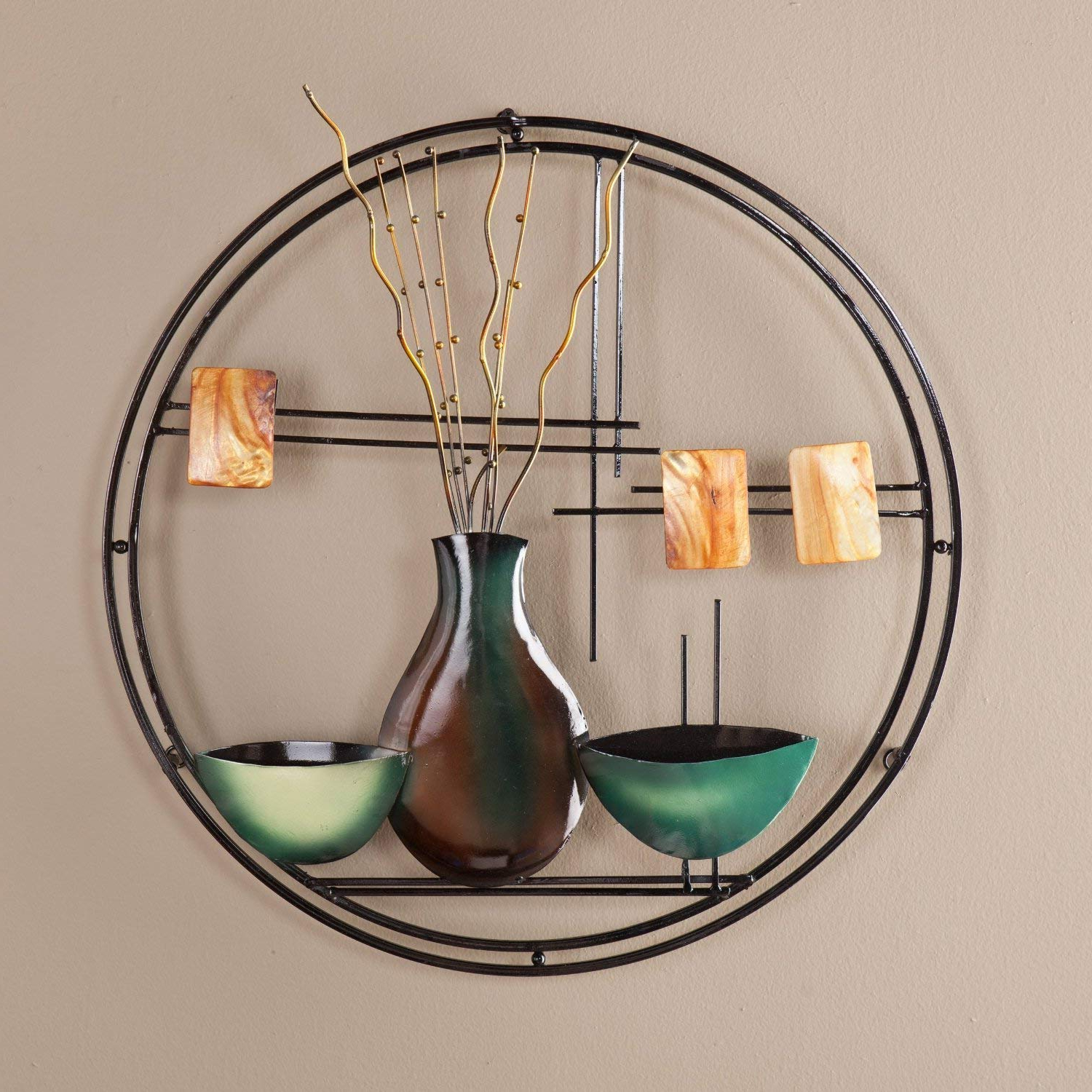 Trendy Vase And Bowl Wall Decor By Alcott Hill Throughout Amazon: Southern Enterprises Vase And Bowl Hanging Wall Art (Gallery 4 of 20)