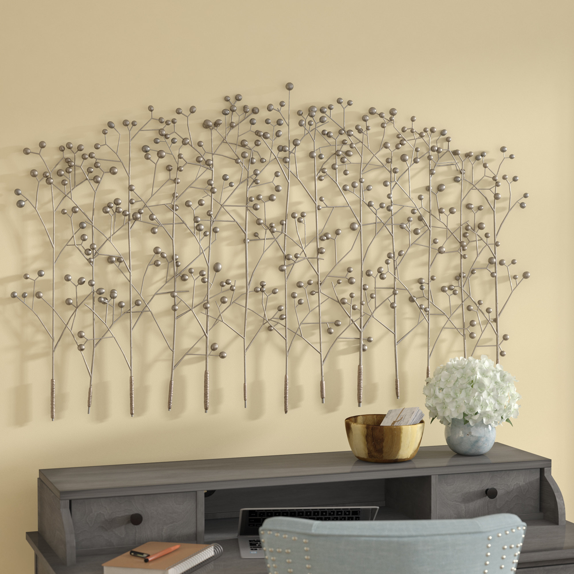 Trendy Windswept Tree Wall Decor By World Menagerie In Red Barrel Studio Antique Silver Trees Wall Décor & Reviews (Gallery 16 of 20)