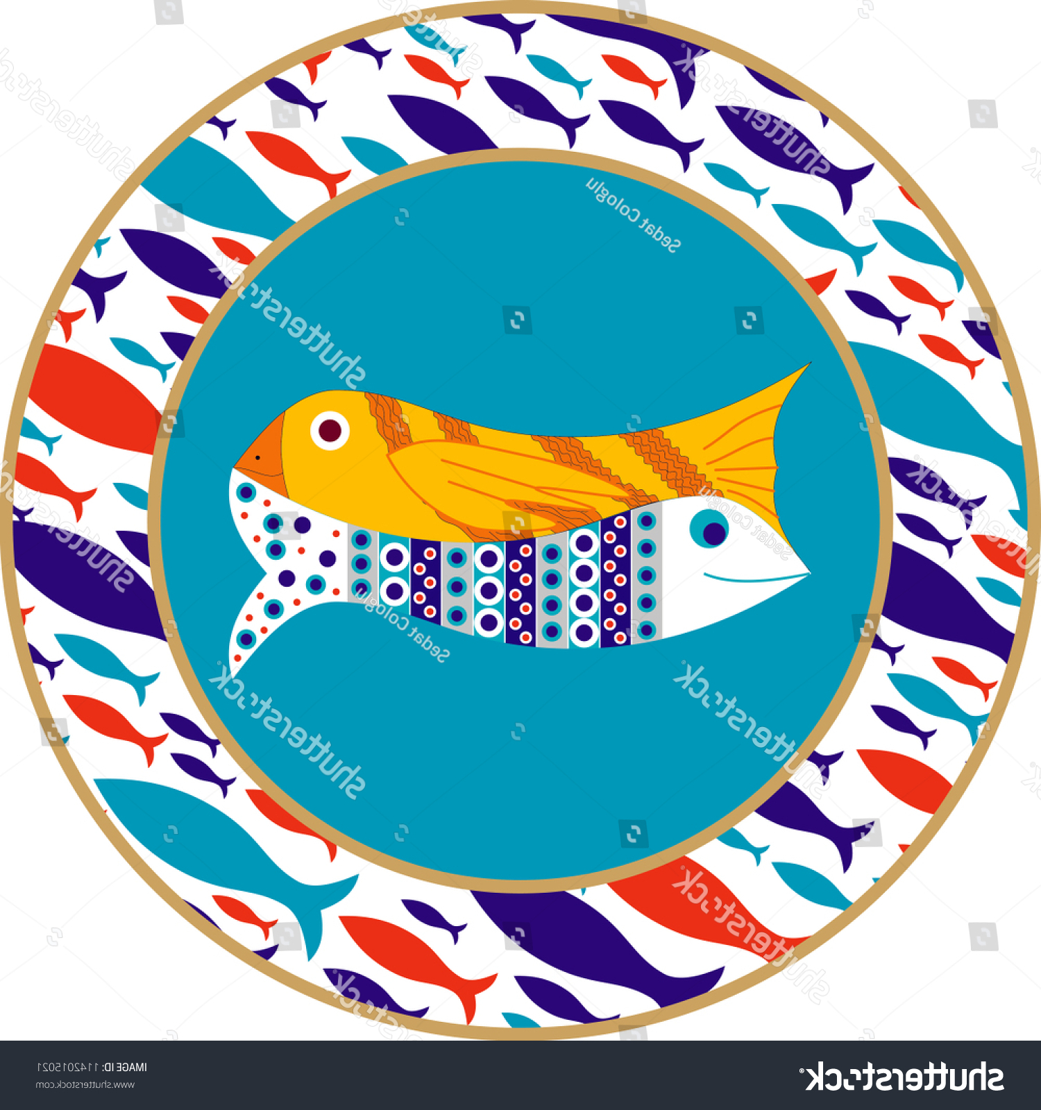 Vector Drawing Ceramic Plate Mostly Prepared Stock Vector (royalty Within Well Liked Ceramic Blue Fish Plate Wall Decor (View 18 of 20)