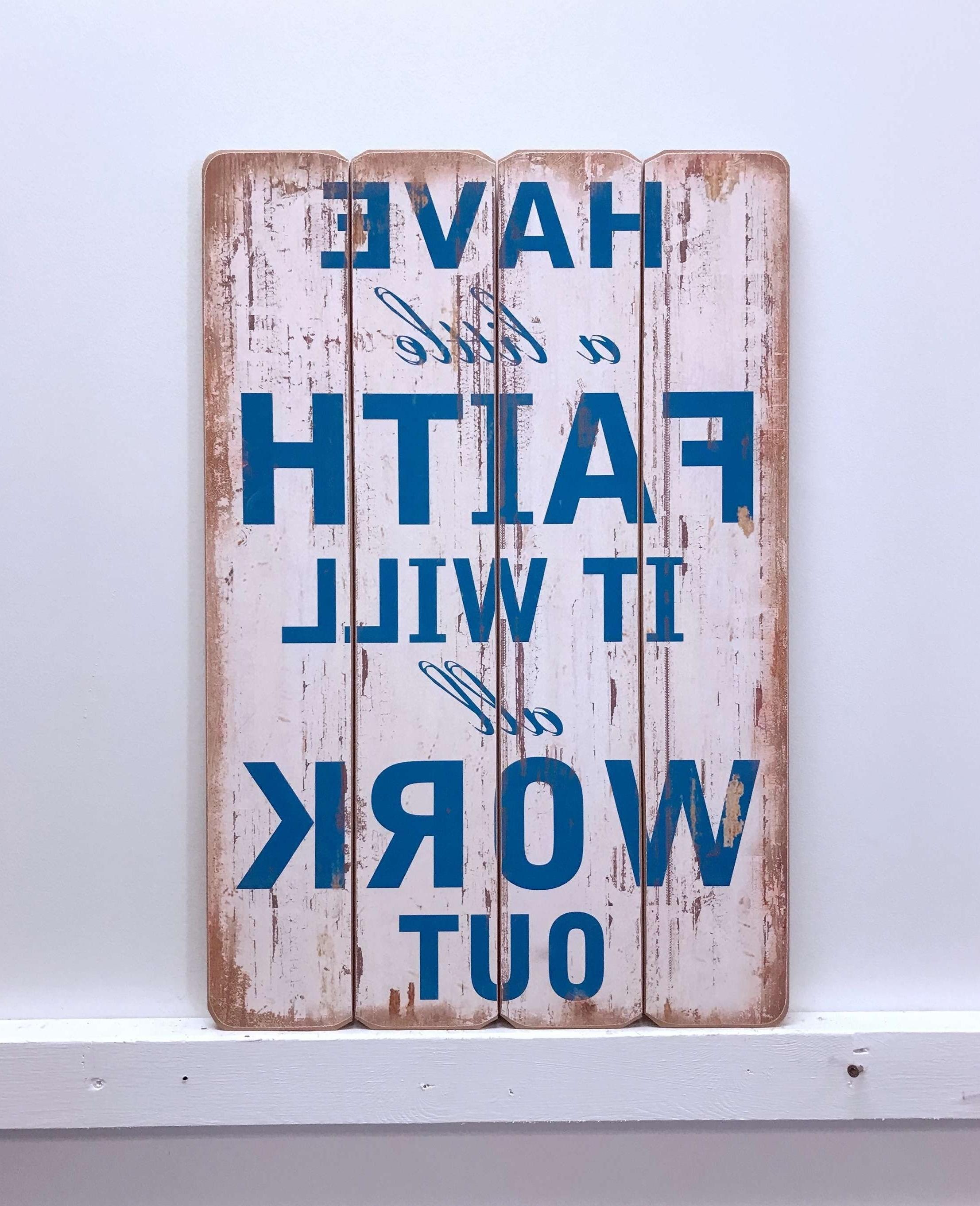 Wayfair For Faith, Hope, Love Raised Sign Wall Decor By Winston Porter (Gallery 12 of 20)
