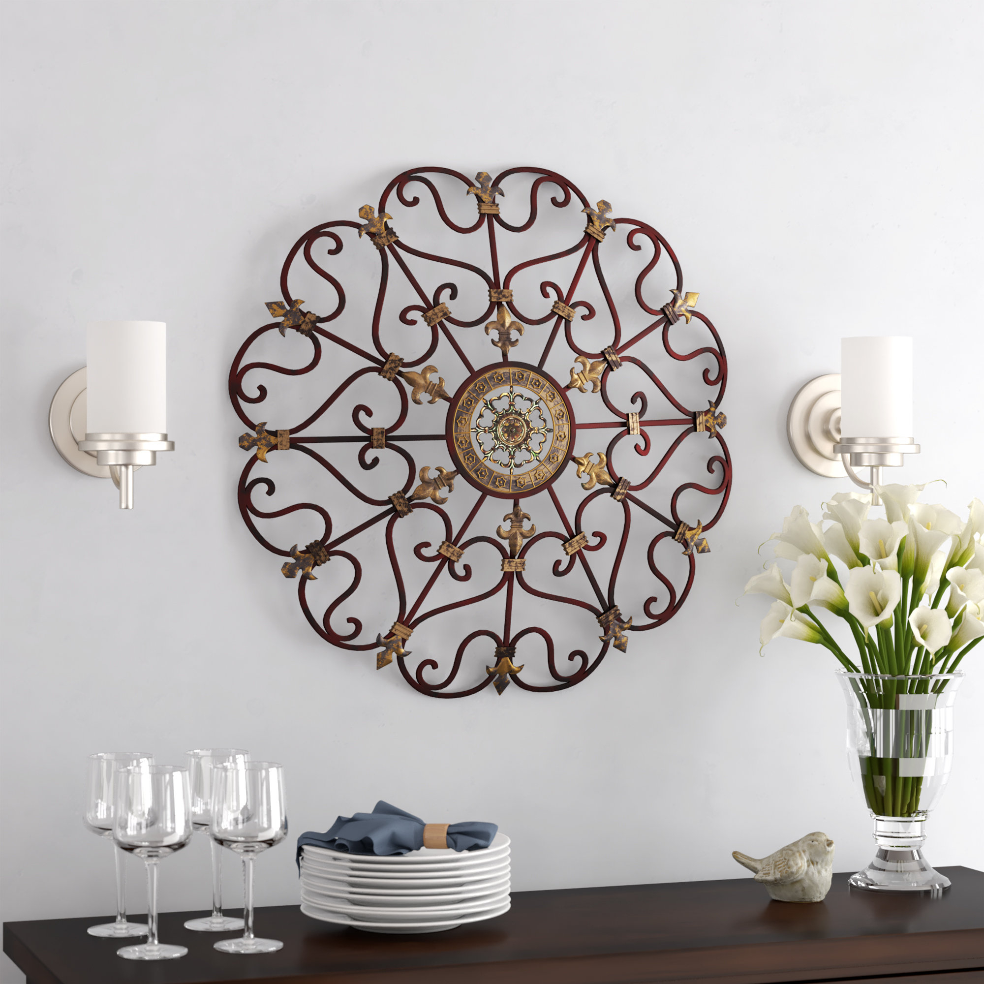 Wayfair For Raheem Flowers Metal Wall Decor By Alcott Hill (View 13 of 20)