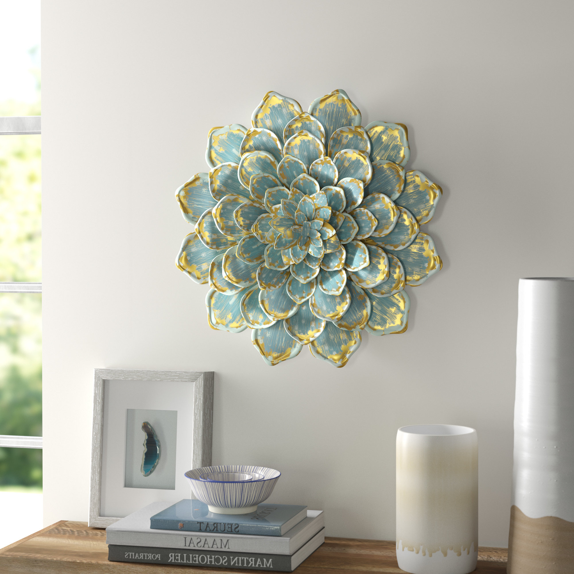 Wayfair Inside 2020 Raheem Flowers Metal Wall Decor By Alcott Hill (View 2 of 20)