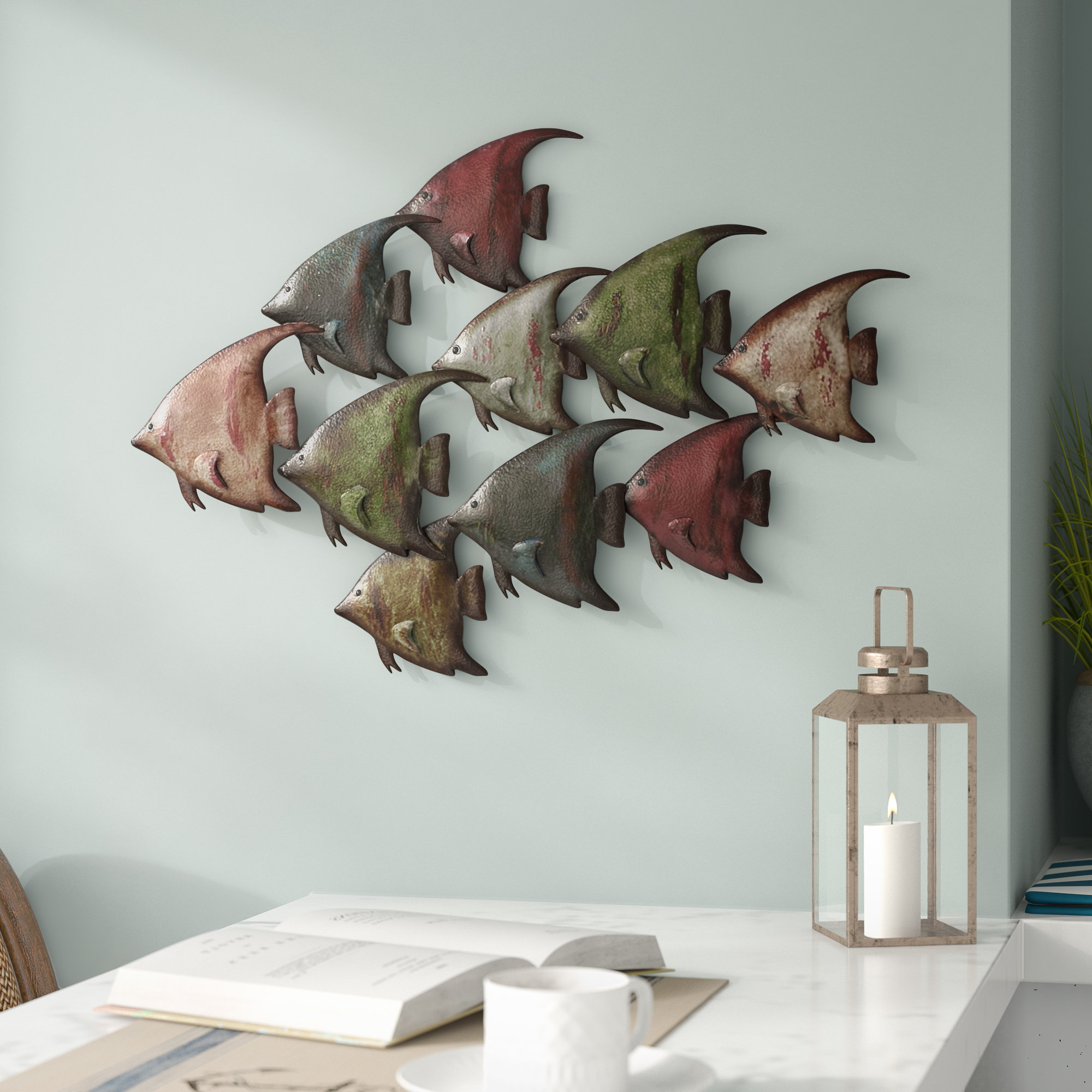 Wayfair Inside Coastal Metal Fish Wall Decor (View 2 of 20)