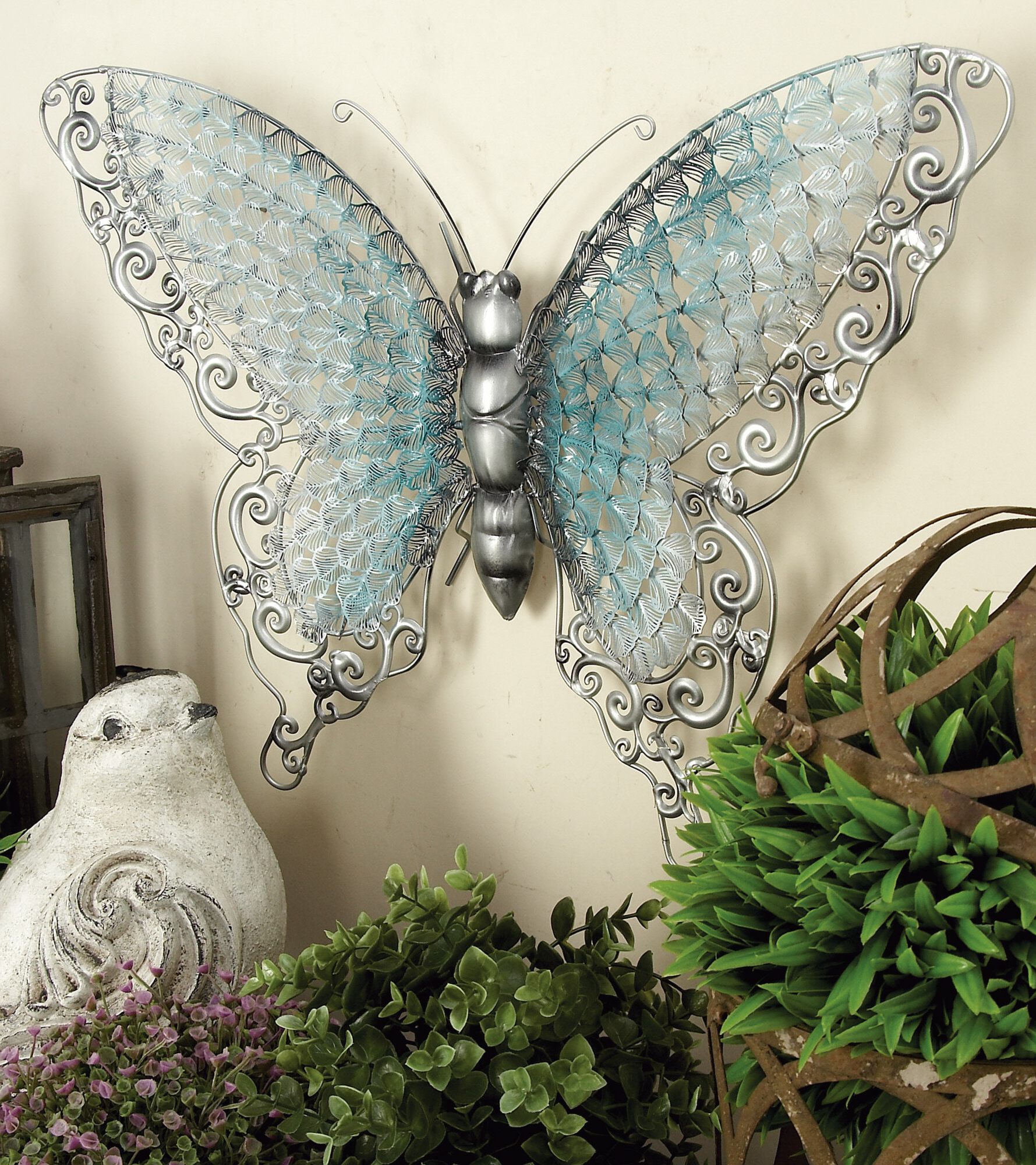 Wayfair Throughout Ila Metal Butterfly Wall Decor (View 5 of 20)