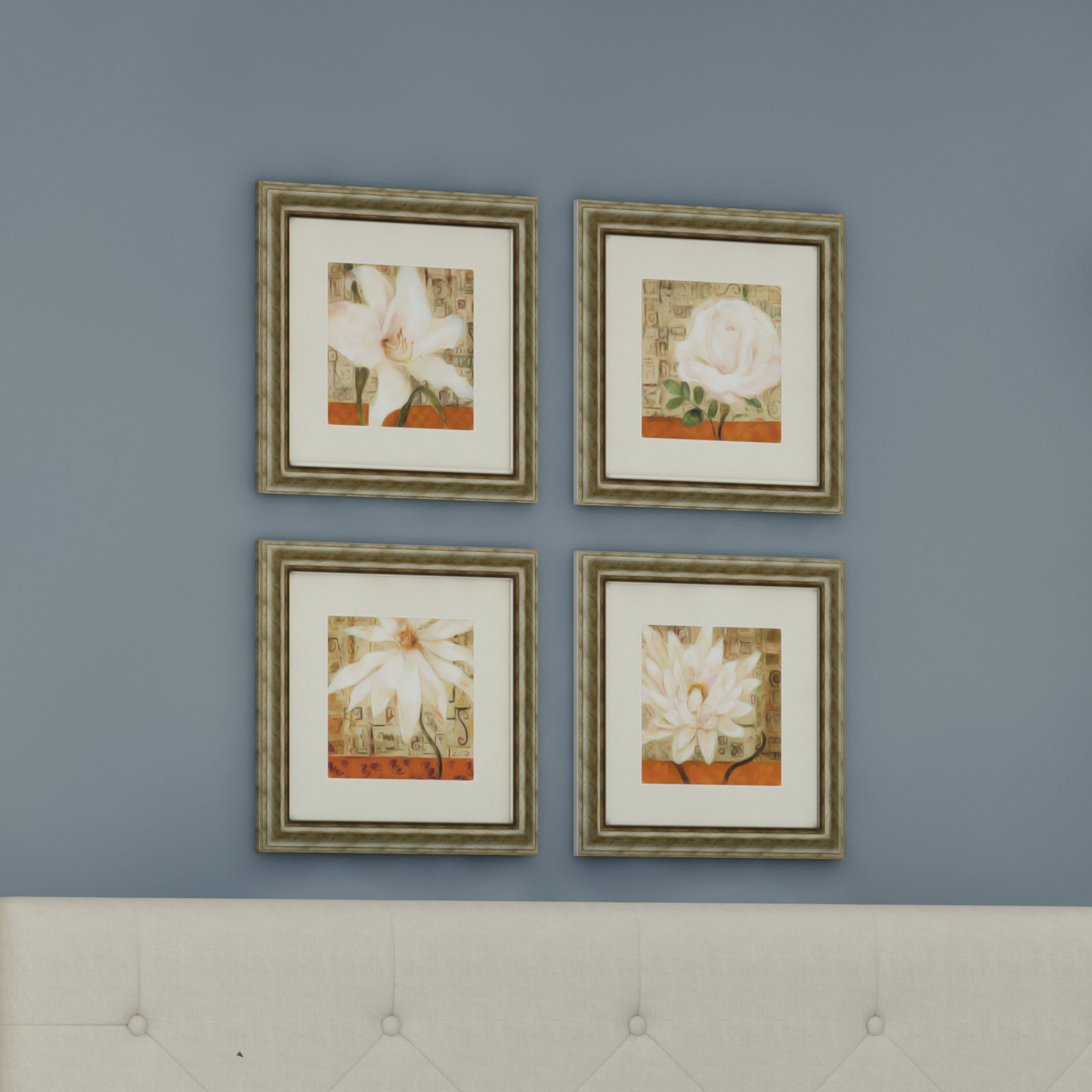 Well Known Alcott Hill 'opulence' 4 Piece Framed Graphic Art Set & Reviews In 4 Piece Wall Decor Sets By Charlton Home (View 5 of 20)