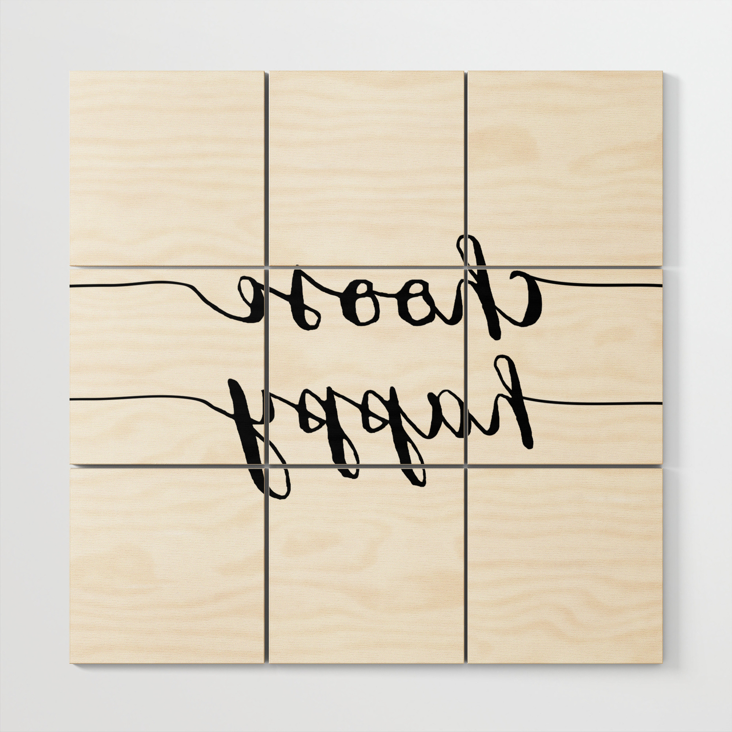 Well Known Choose Happy Wood Wall Decor With Regard To Choose Happy Black And White Monochrome Typography Poster Design (View 12 of 20)