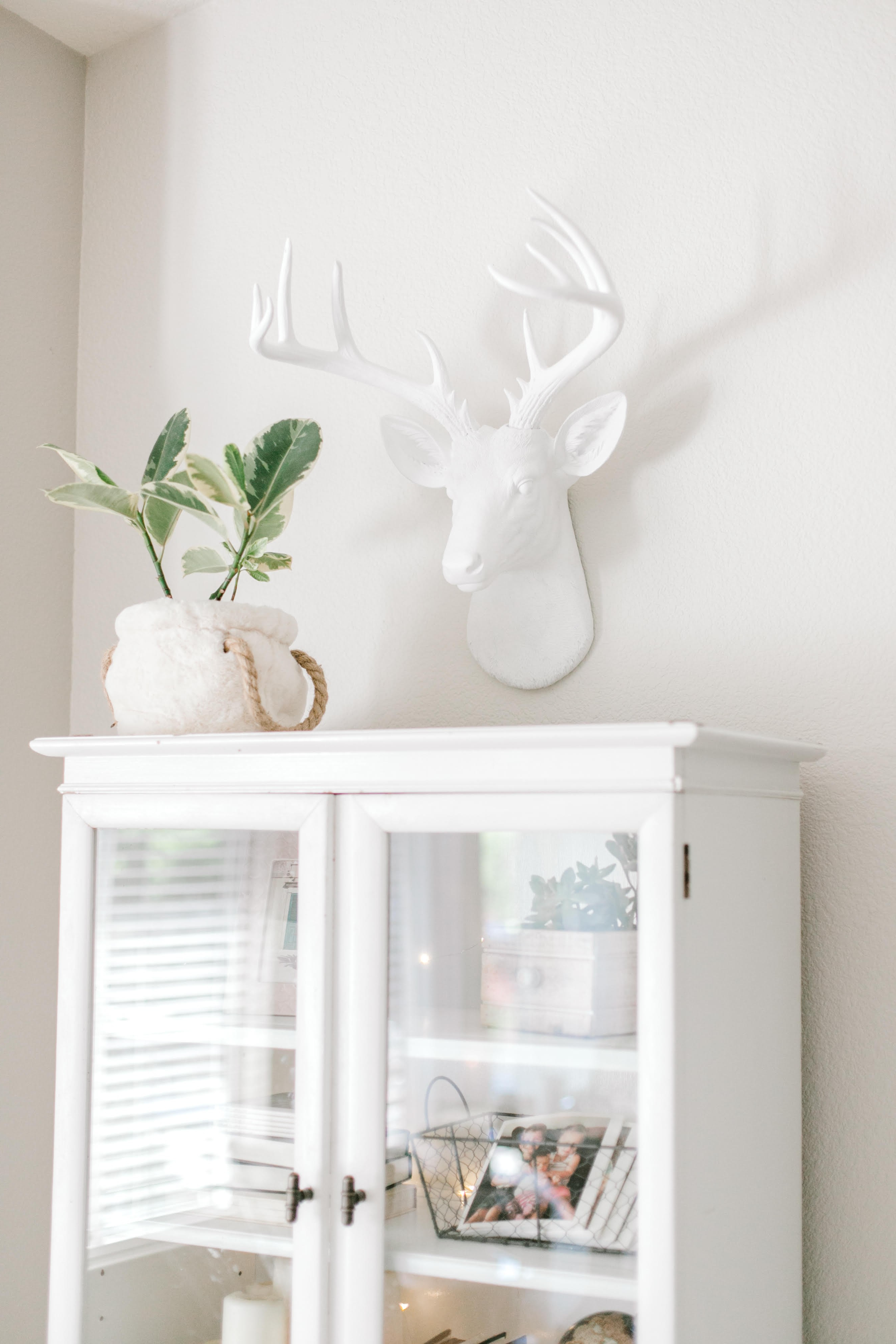 Well Known Large Deer Head Faux Taxidermy Wall Decor Throughout Large 14 Point Deer Head Wall Mount // White (Gallery 15 of 20)
