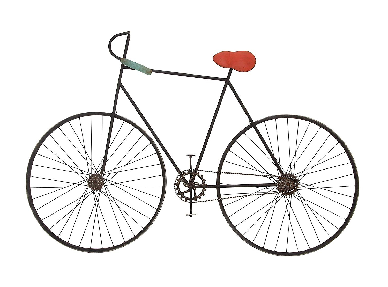 "Well Known Metal Bicycle Wall Decor In Amazon: Deco 79 59467 Metal Bicycle Wall Décor 37"" X 6"" Black (View 18 of 20)"