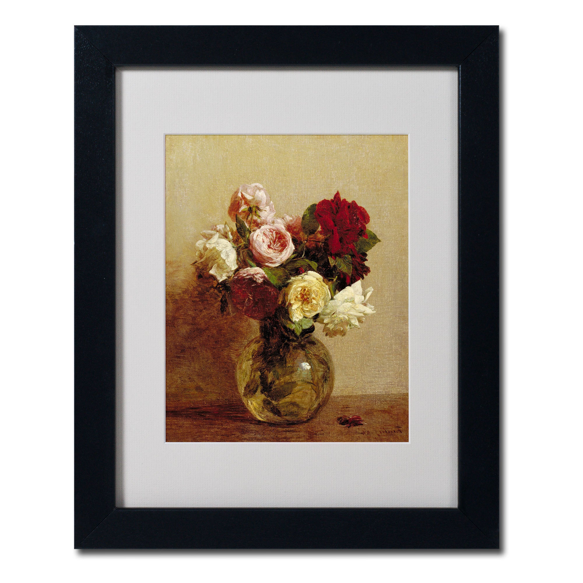 Well Known Shop Henri Fantin Latour 'roses 1884' White Matte, Black Framed Wall With Regard To Latour Wall Decor (Gallery 6 of 20)
