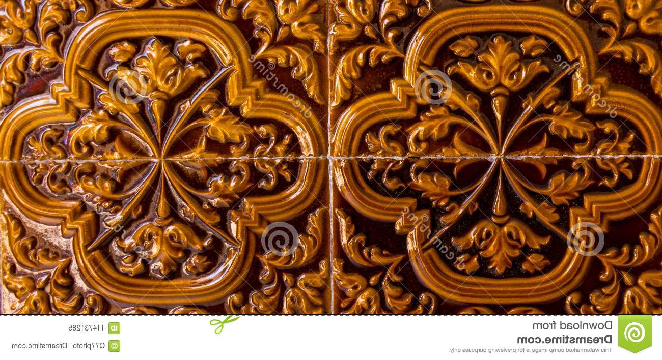 Well Known Spanish Ornamental Wall Decor Inside Traditional Ornamental Spanish Decorative Tiles, Original Ceramic (View 17 of 20)