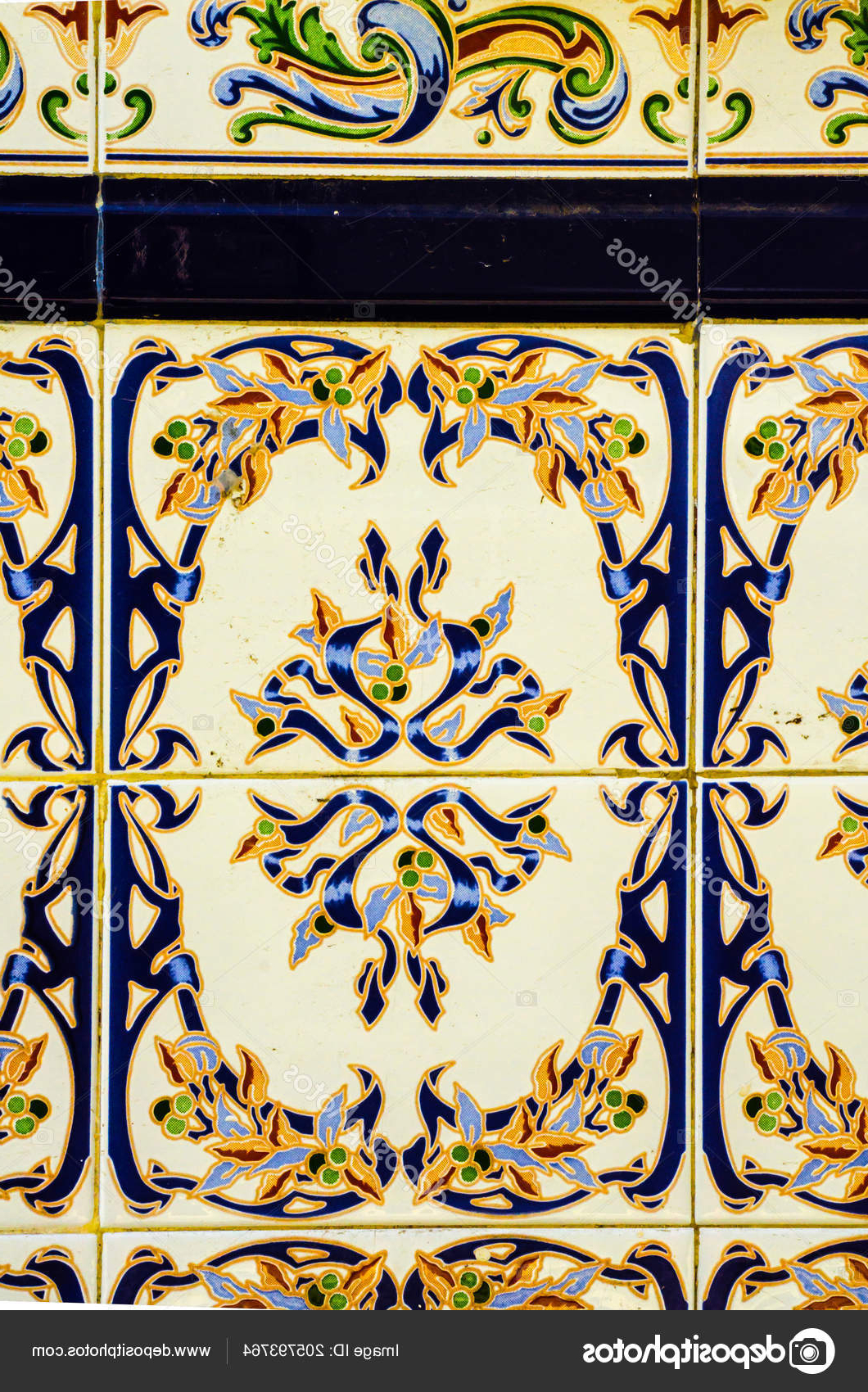 Well Known Traditional Ornamental Spanish Decorative Tiles Original Ceramic Intended For Spanish Ornamental Wall Decor (View 18 of 20)