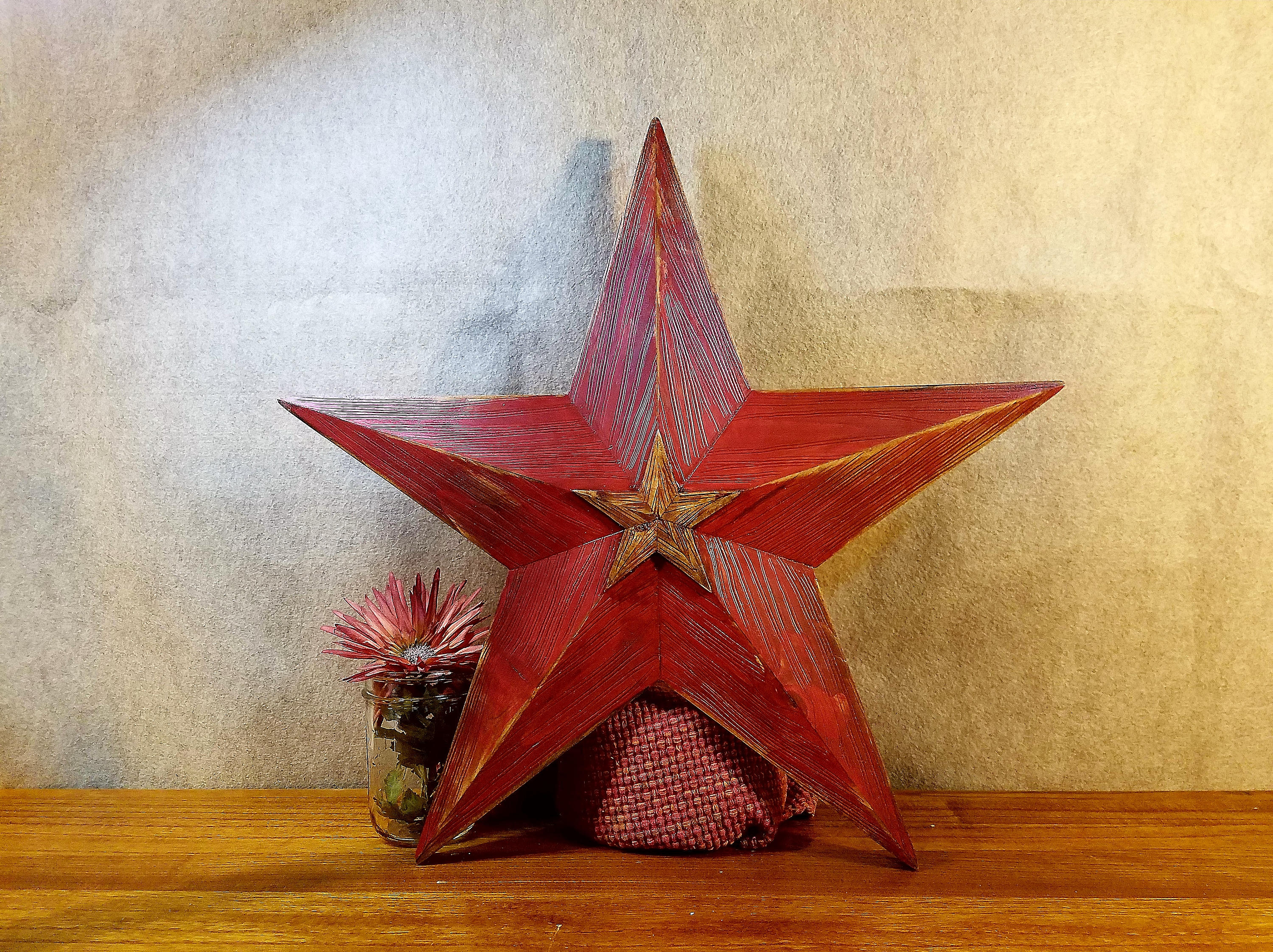 Well Known Wood Star Rustic Barn Star Large Wooden Star Holiday Door (Gallery 6 of 20)
