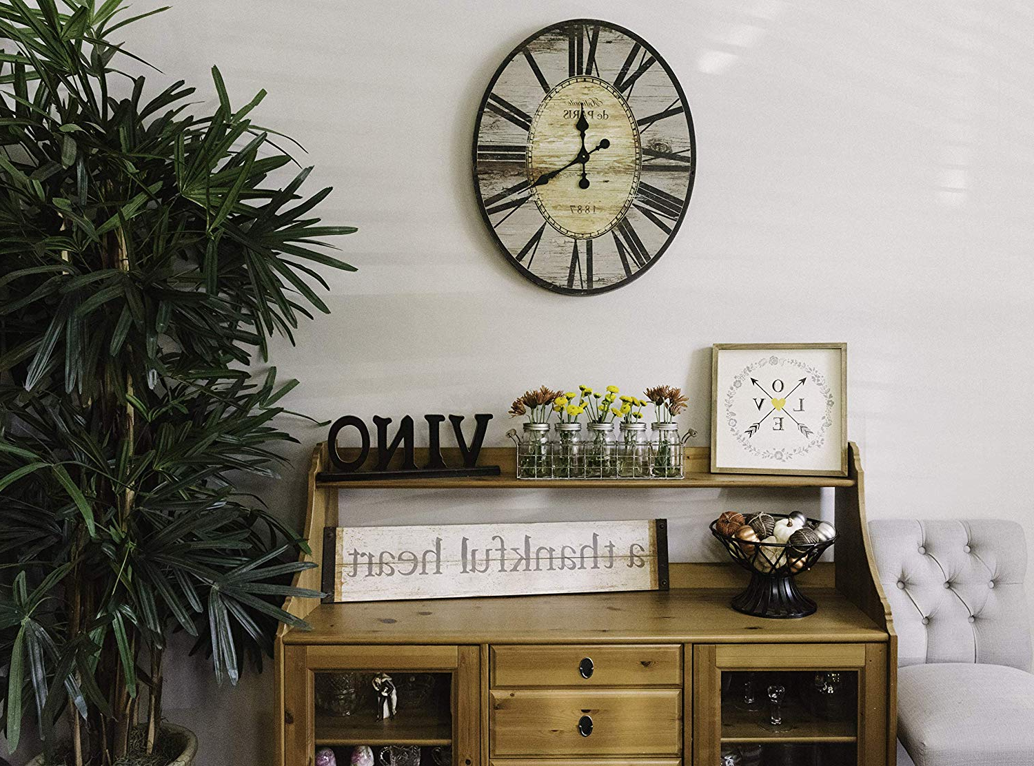 """Well Liked Fawcett Thankful Heart Wall Decor Throughout Amazon: Creative Co Op """"a Thankful Heart Wood & Metal Wall Decor (Gallery 8 of 20)"""