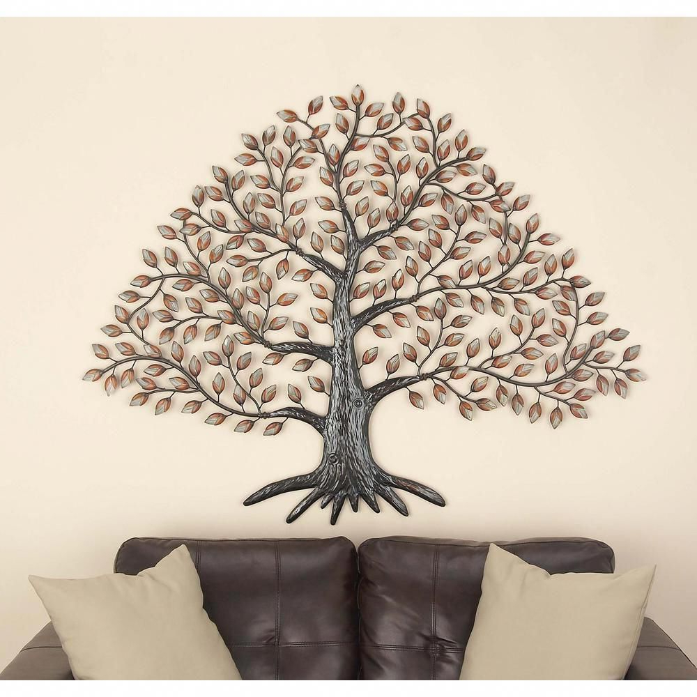Wetherden Tree Wall Decor In 2020 American Home 57 In. X 46 In. Natural Reflections Black And White (Gallery 7 of 20)