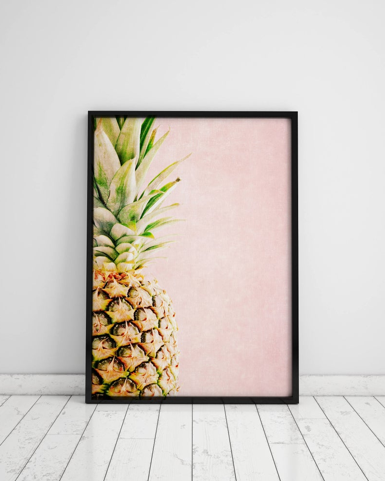 Widely Used Pineapple Wall Art Kitchen Decor Kitchen Wall Decor Pineapple (View 8 of 20)
