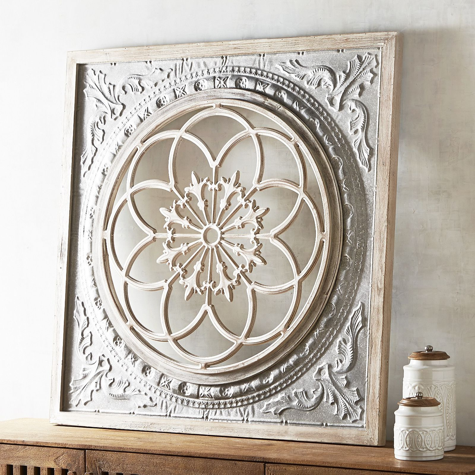Widely Used Shabby Medallion Wall Decor Throughout Galvanized Medallion Wall Decor In (View 9 of 20)