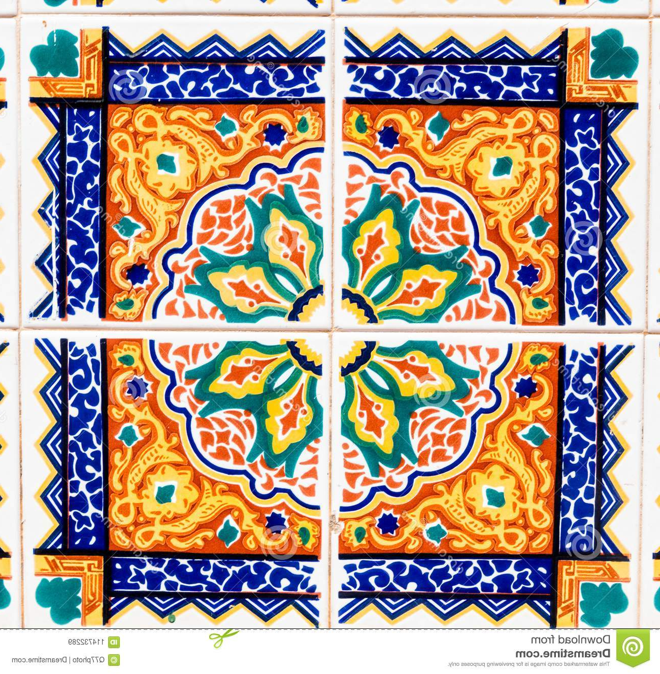 Widely Used Traditional Ornamental Spanish Decorative Tiles, Original Ceramic With Spanish Ornamental Wall Decor (View 20 of 20)