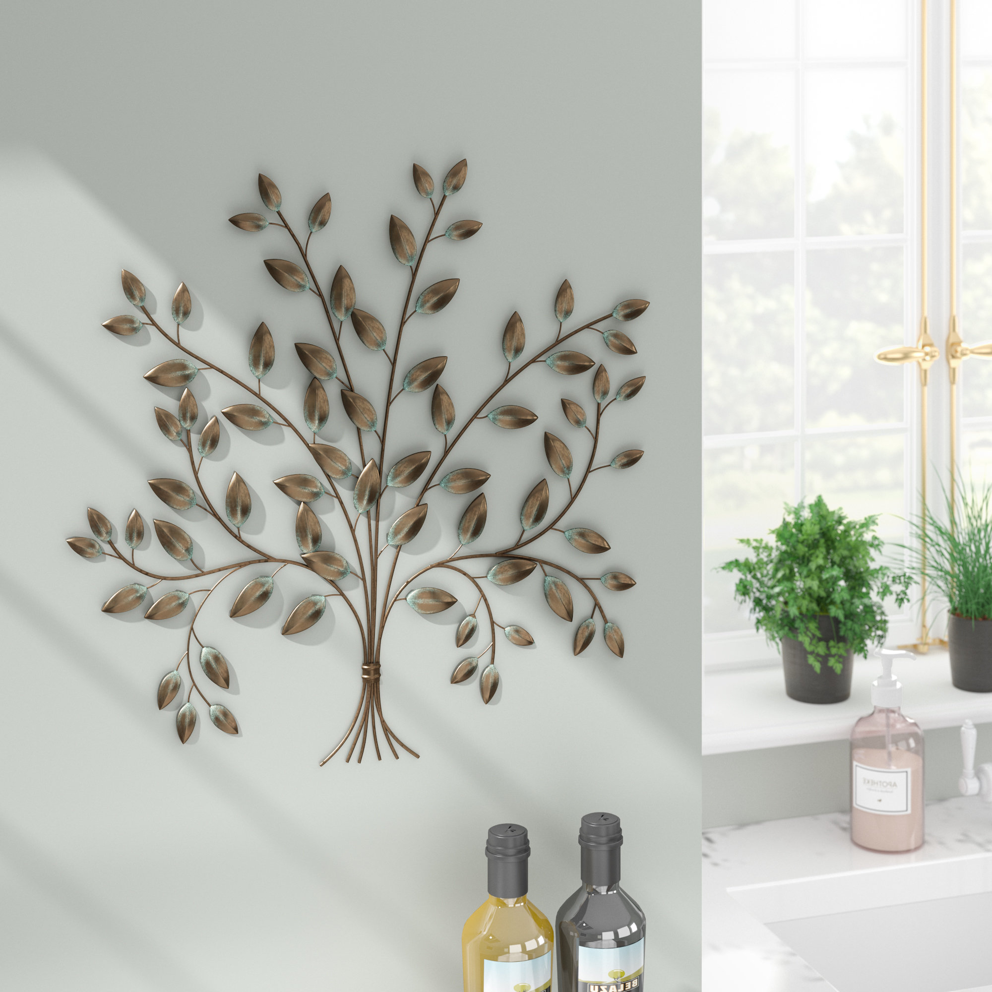Windswept Tree Wall Decor By World Menagerie Pertaining To Latest Red Barrel Studio Tree Of Life Wall Décor & Reviews (Gallery 9 of 20)