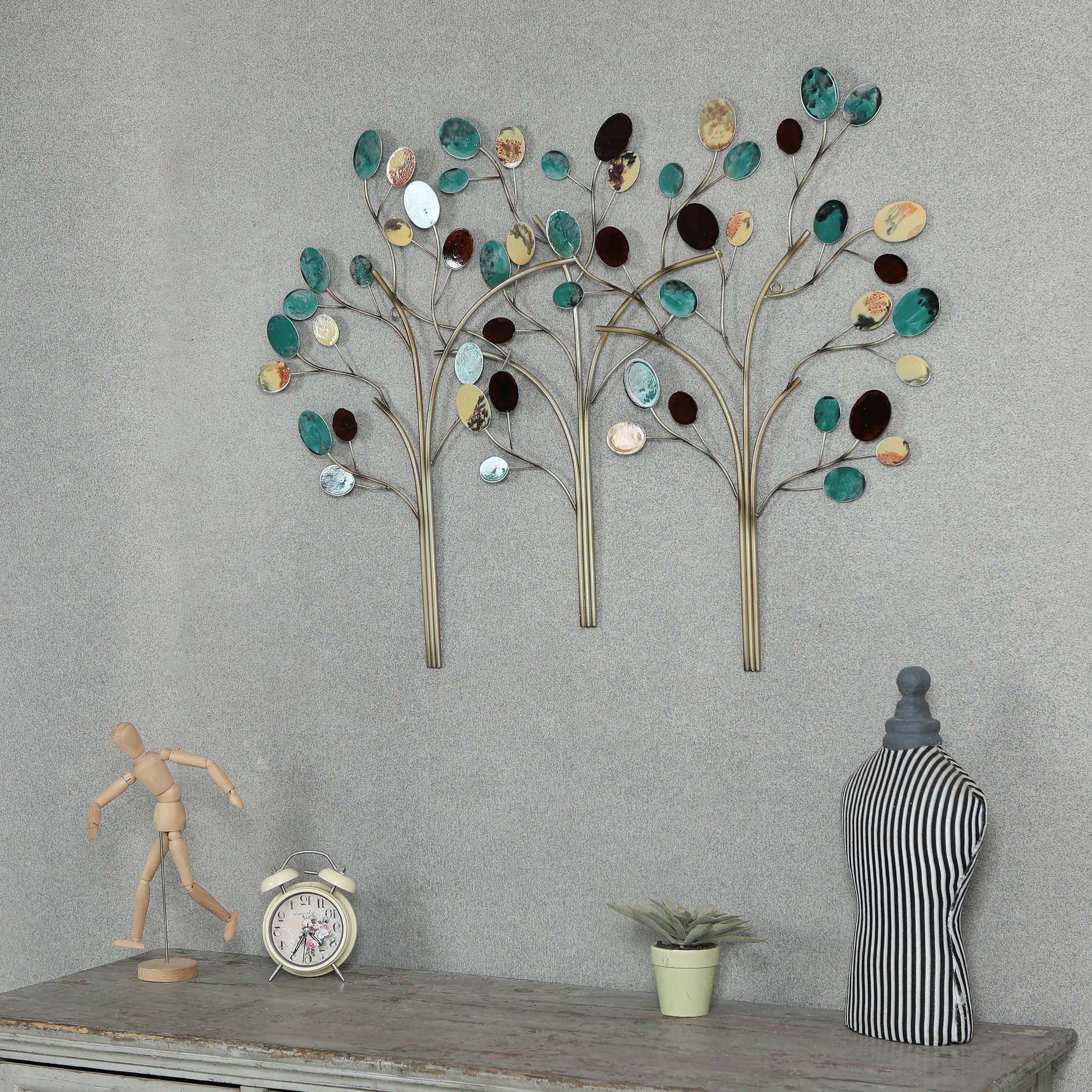 Winston Porter Metal Trees Wall Décor & Reviews (View 2 of 20)