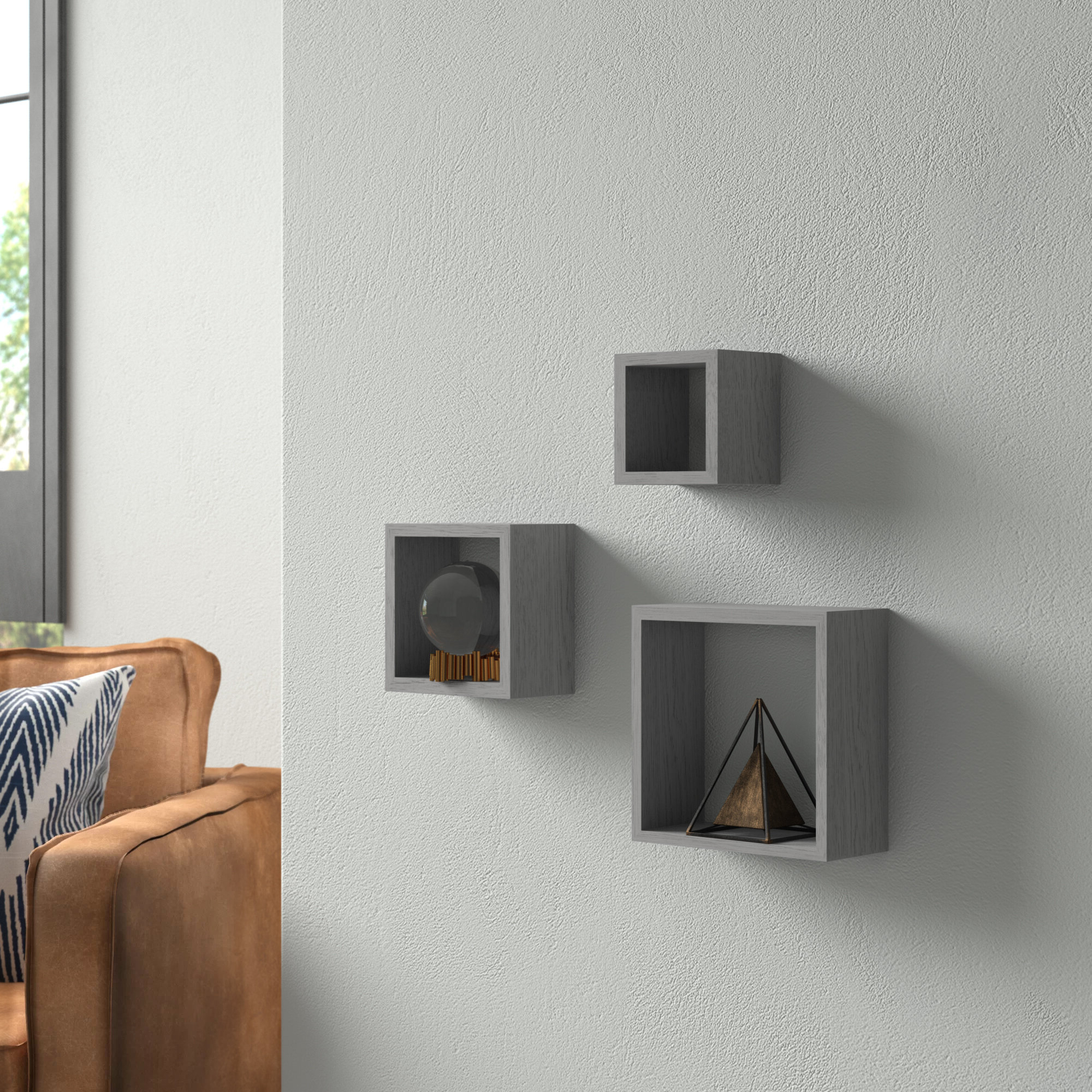 Wrought Studio Bottoms Cube 3 Piece Wall Shelf Set & Reviews (Gallery 20 of 20)